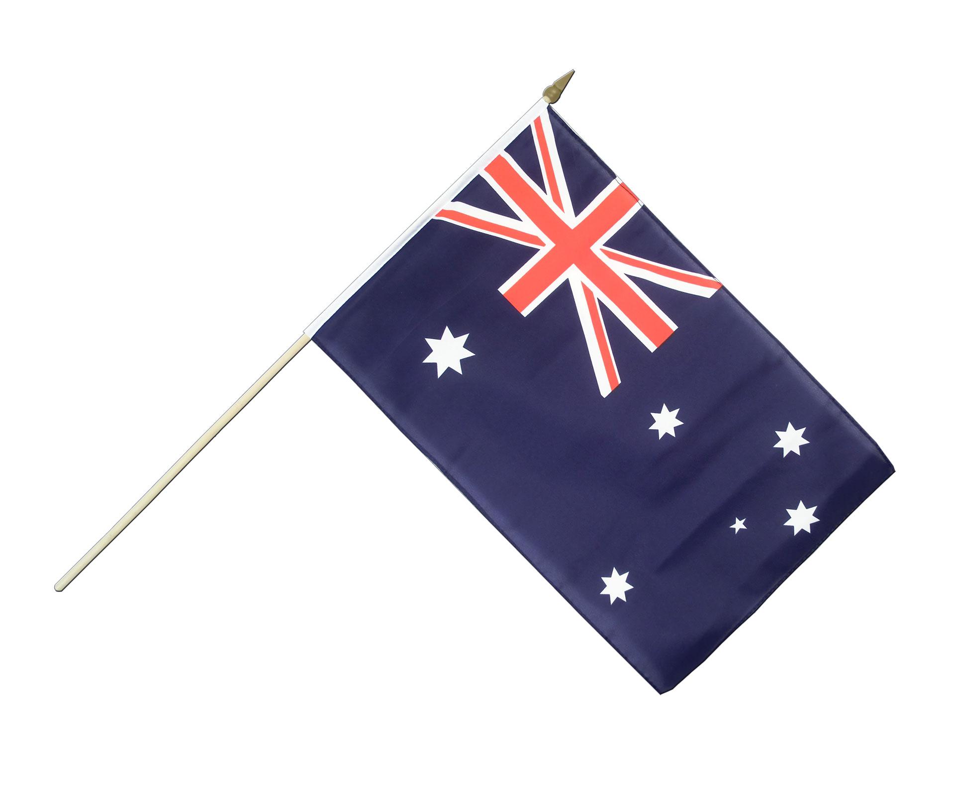 australia hand waving flag 12x18