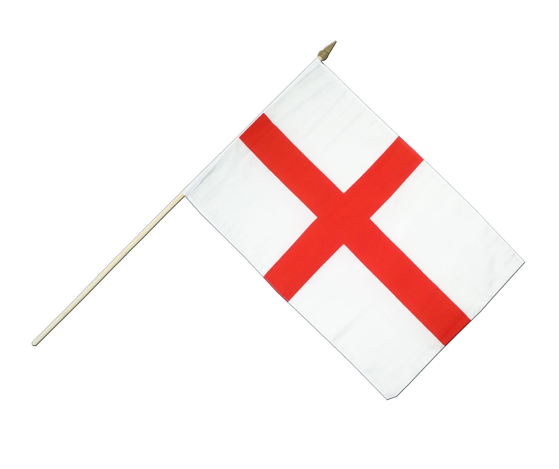 hand waving flag england st george 12x18