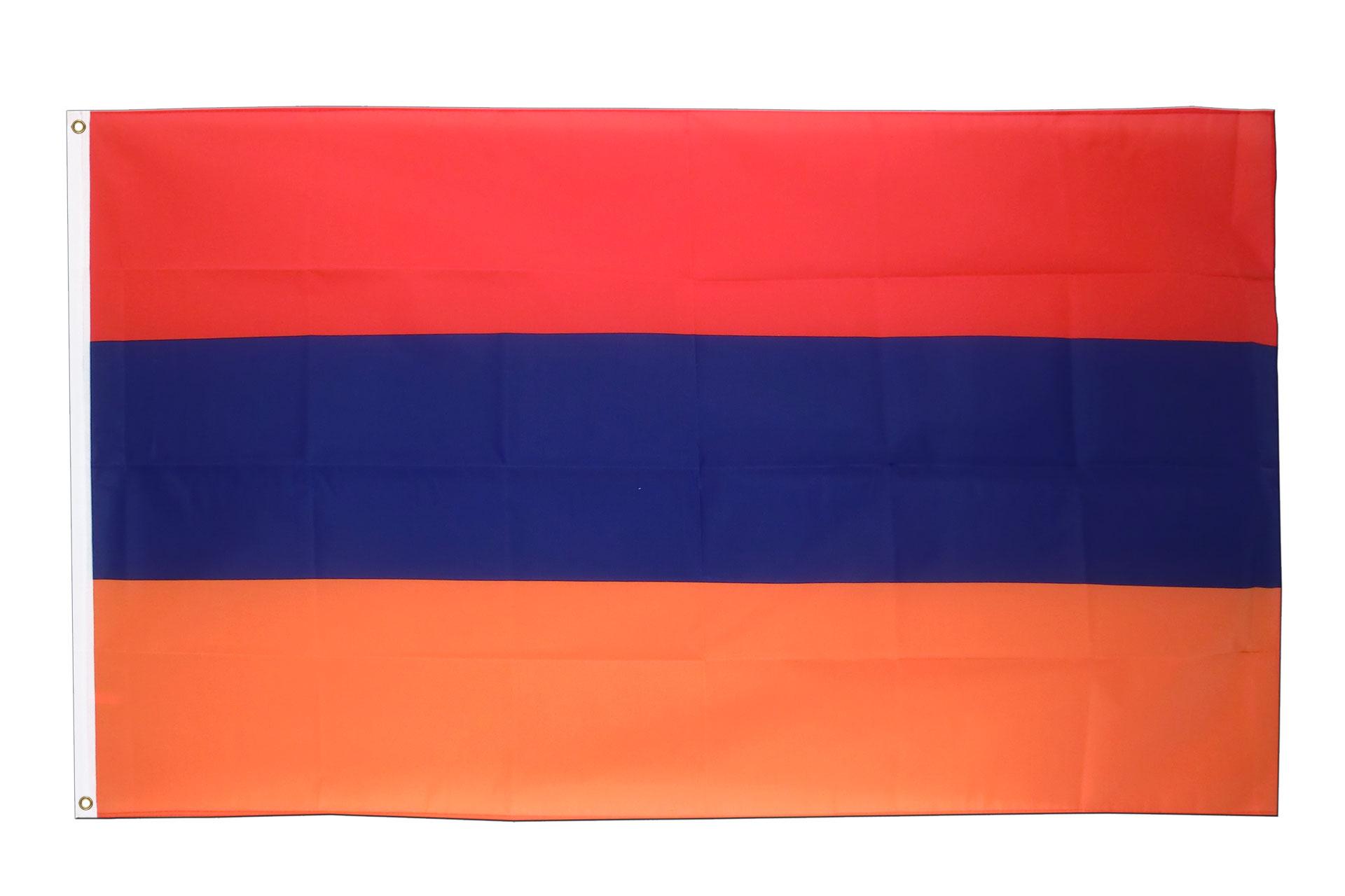 Buy Armenia Flag - 3x5 ft (90x150 cm) - Royal-Flags: royal-flags.co.uk/armenia-flag-1531.html