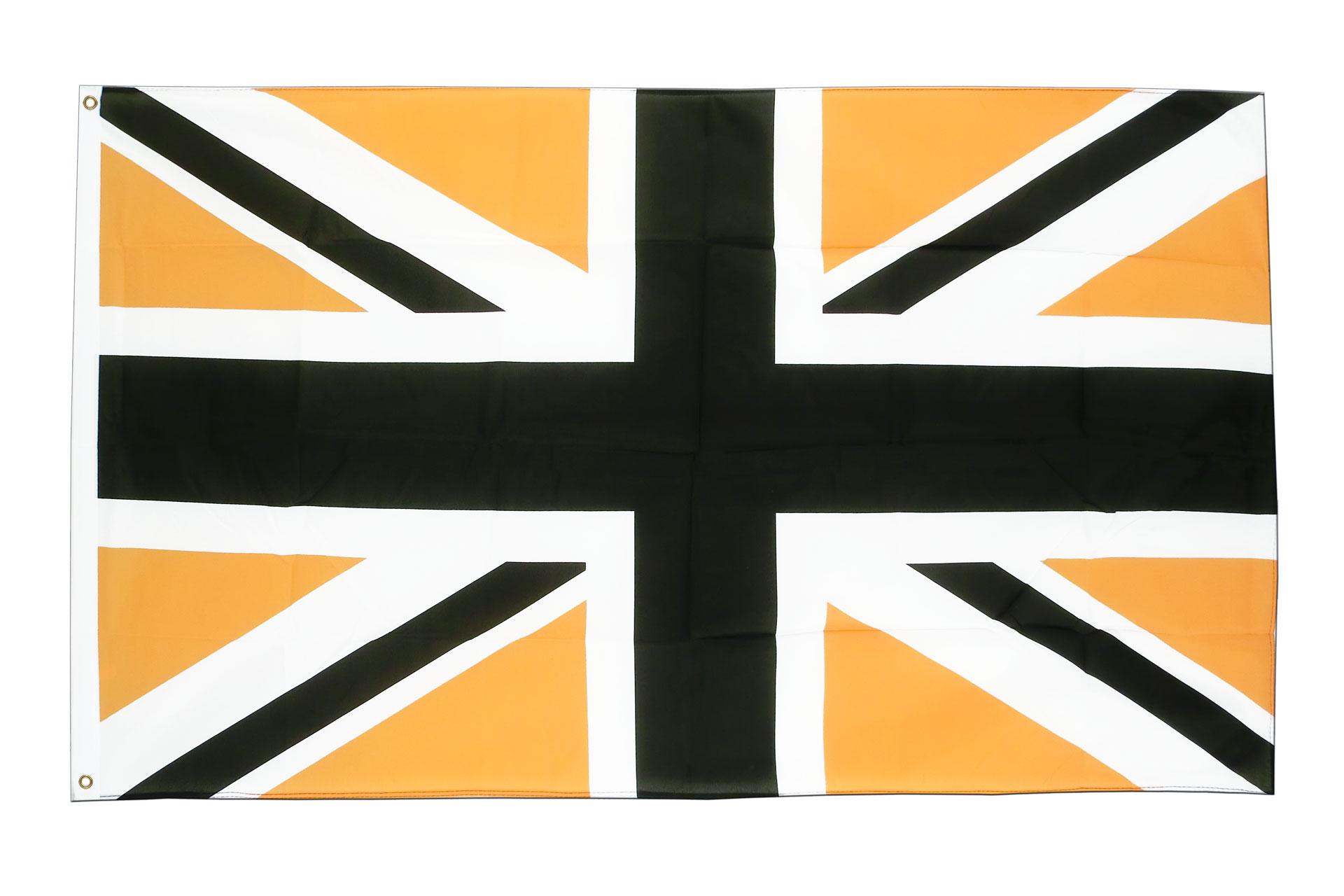 Buy union jack black gold flag ft cm