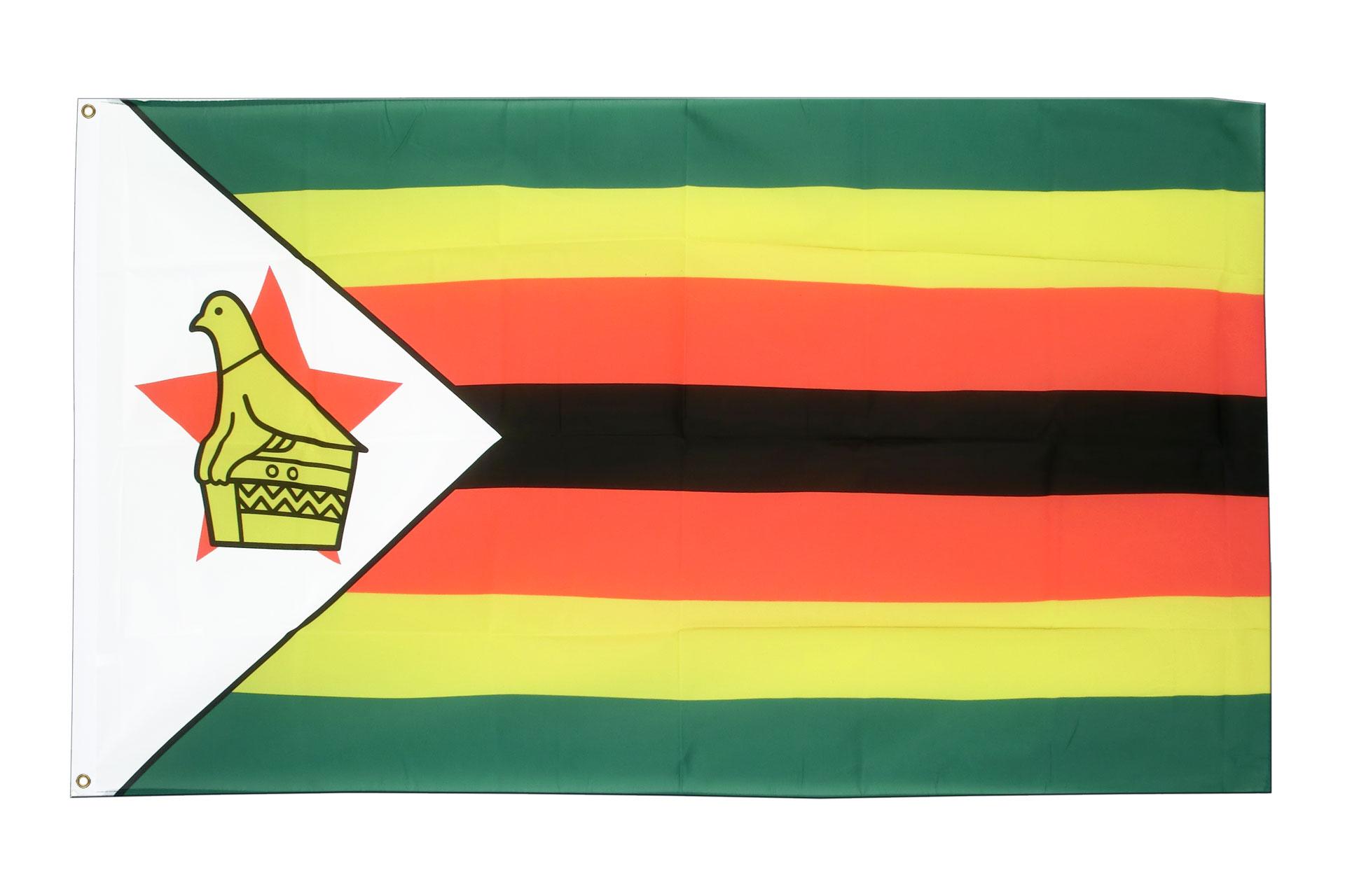 Buy Zimbabwe Flag - 3x5 ft (90x150 cm) - Royal-Flags: https://www.royal-flags.co.uk/zimbabwe-flag-2001.html
