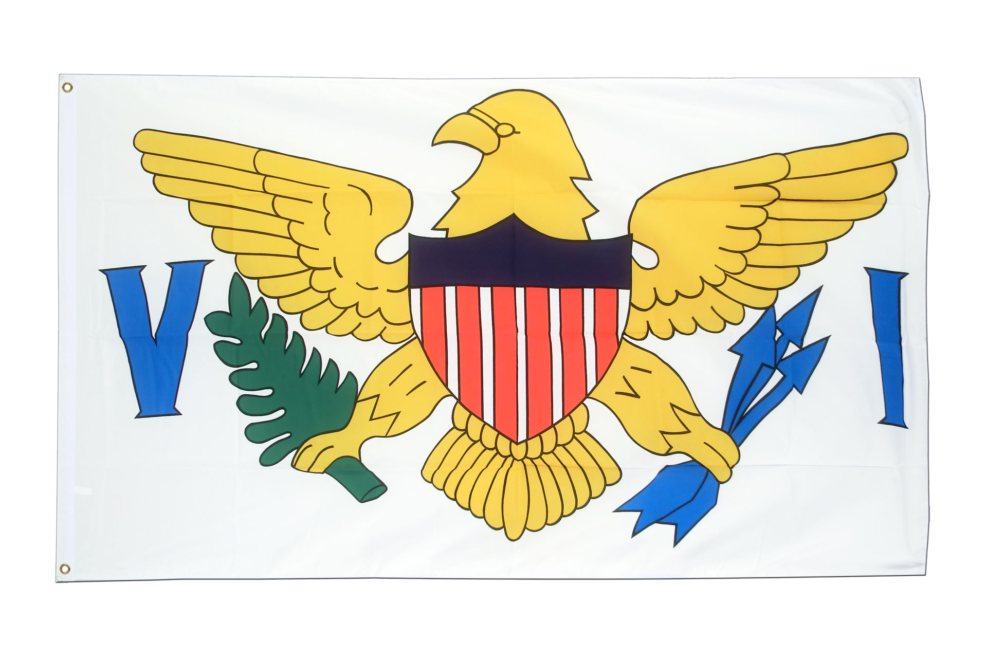 Buy Virgin Islands Flag - 3x5 ft (90x150 cm) - Royal-Flags: https://www.royal-flags.co.uk/virgin-islands-flag-2100.html