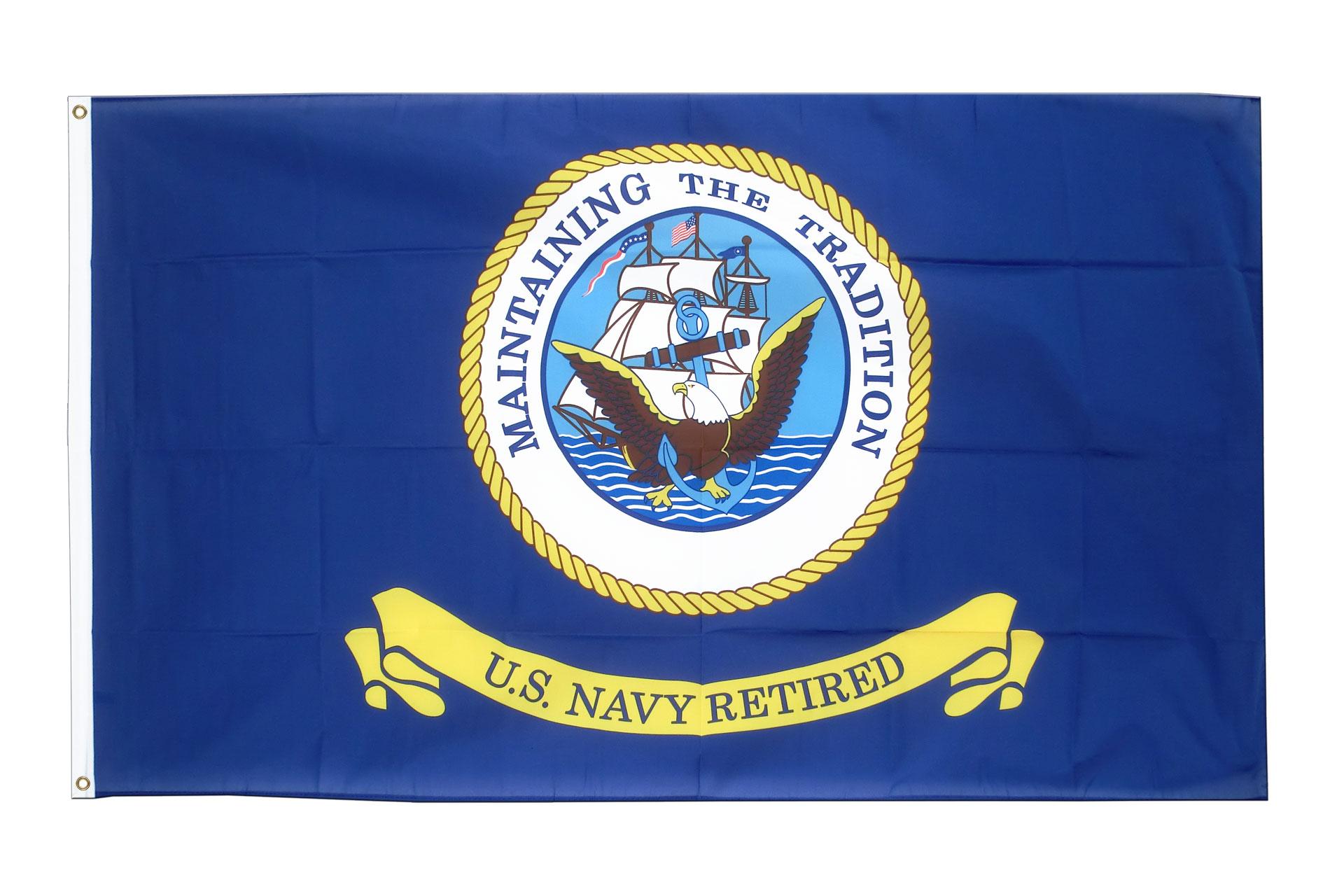 Buy us navy retired flag 3x5 ft 90x150 cm royal flags