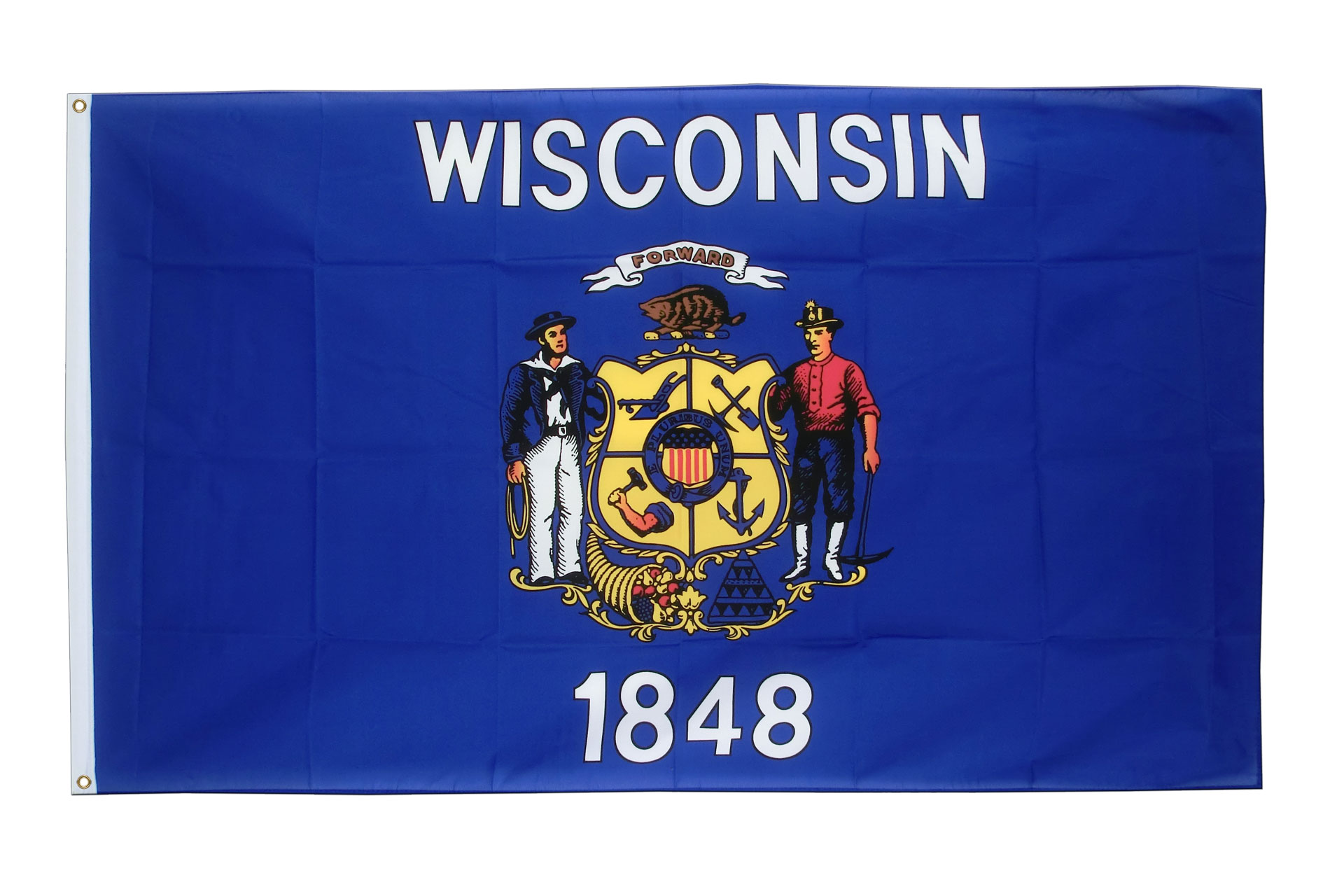 Buy Wisconsin Flag - 3x5 ft (90x150 cm) - Royal-Flags: royal-flags.co.uk/wisconsin-flag-2175.html