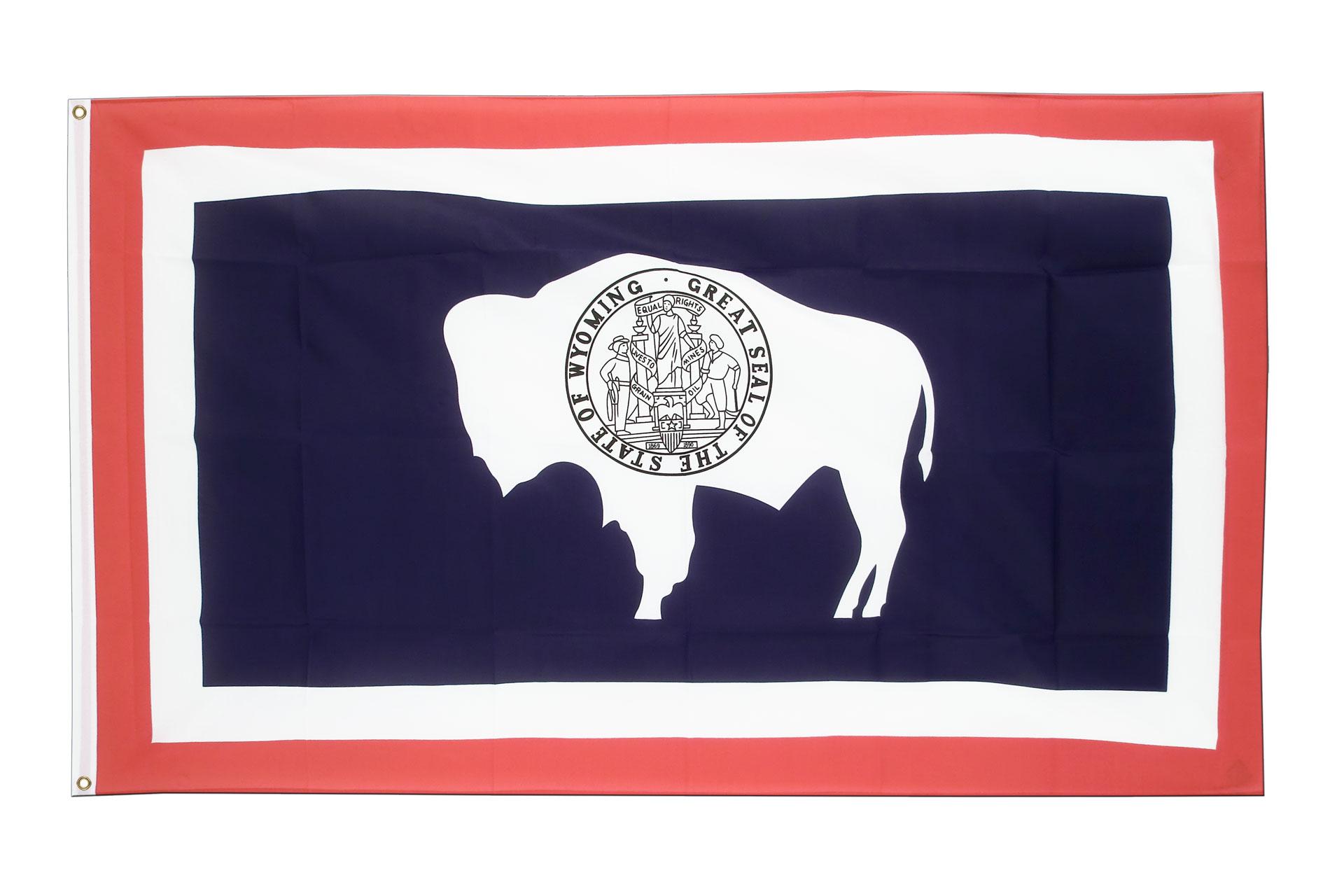 Buy Wyoming Flag - 3x5 ft (90x150 cm) - Royal-Flags: https://www.royal-flags.co.uk/wyoming-flag-2176.html