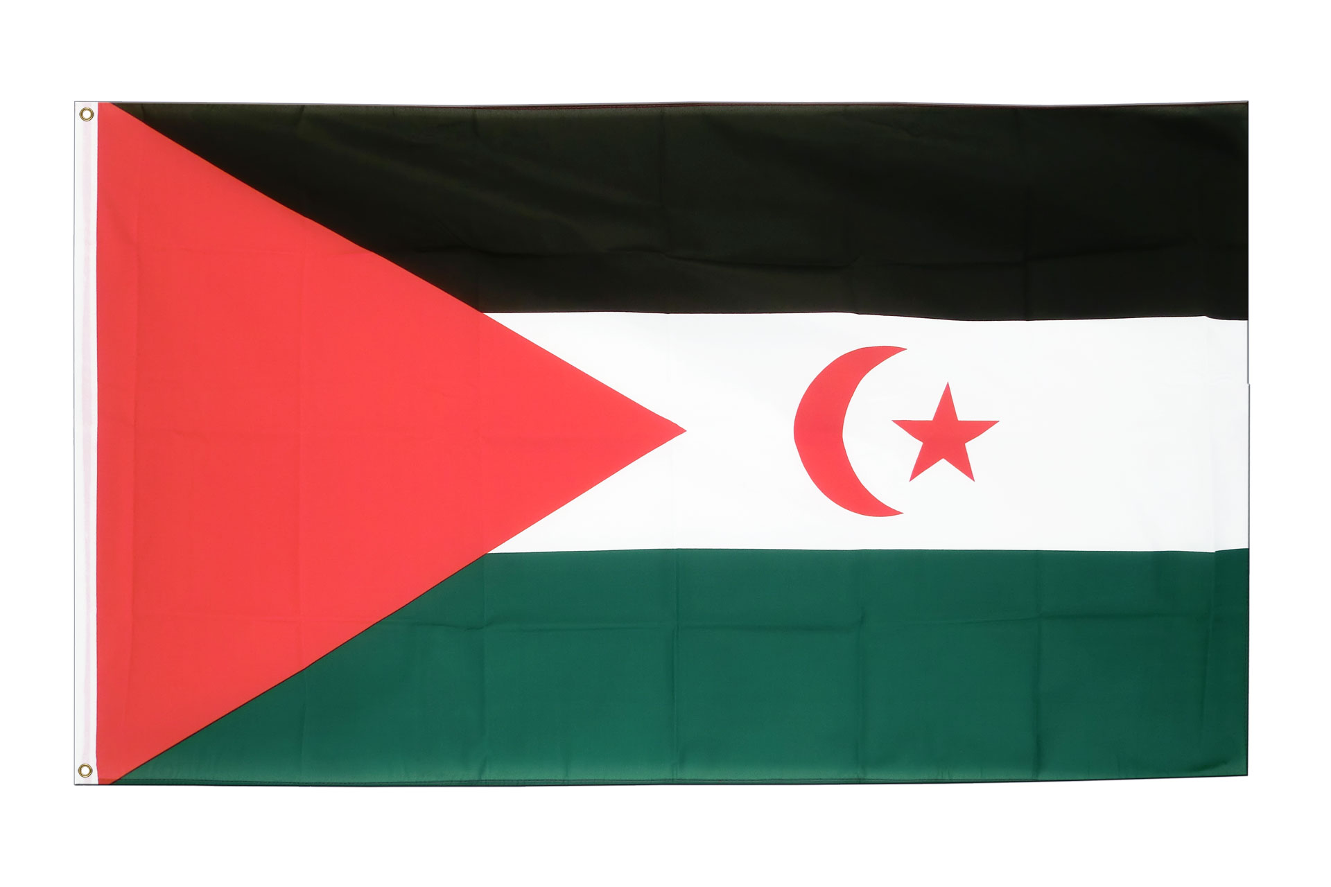 Buy Western Sahara Flag - 3x5 ft (90x150 cm) - Royal-Flags: royal-flags.co.uk/western-sahara-flag-2194.html