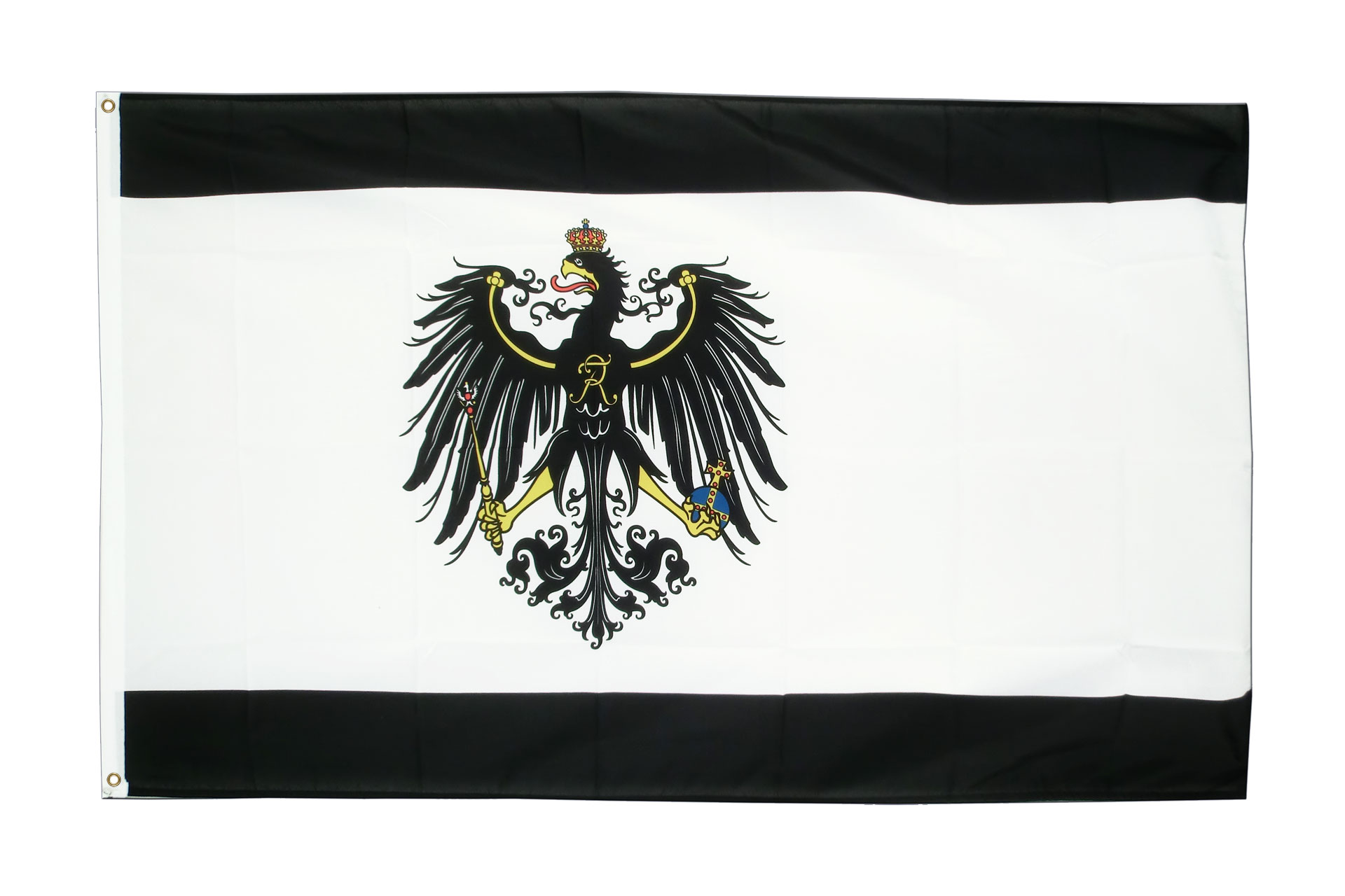 Buy Prussia Flag - 3x5 ft (90x150 cm) - Royal-Flags: royal-flags.co.uk/prussia-flag-2467.html