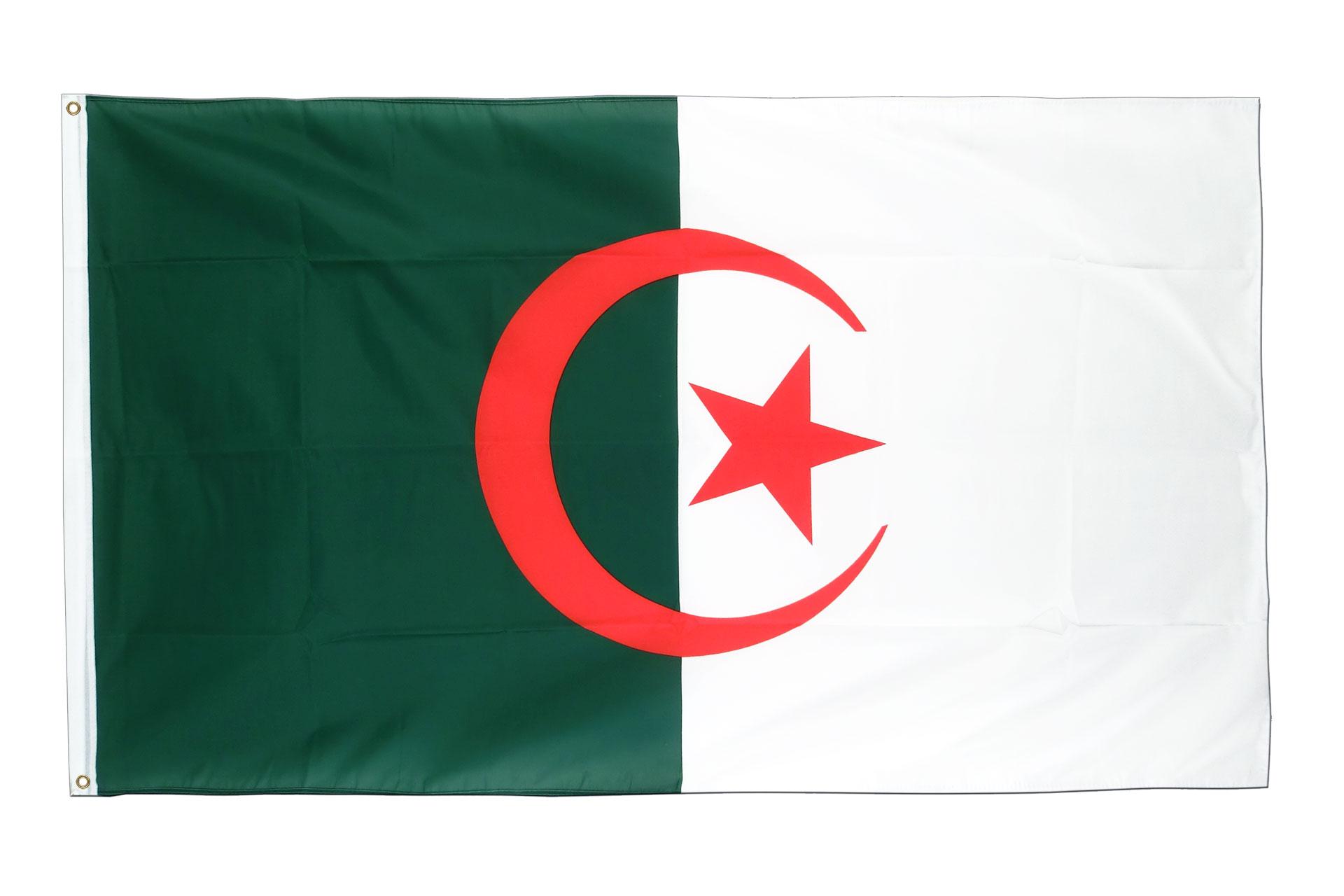 drapeau algerien pas cher 60 x 90 cm m des drapeaux. Black Bedroom Furniture Sets. Home Design Ideas