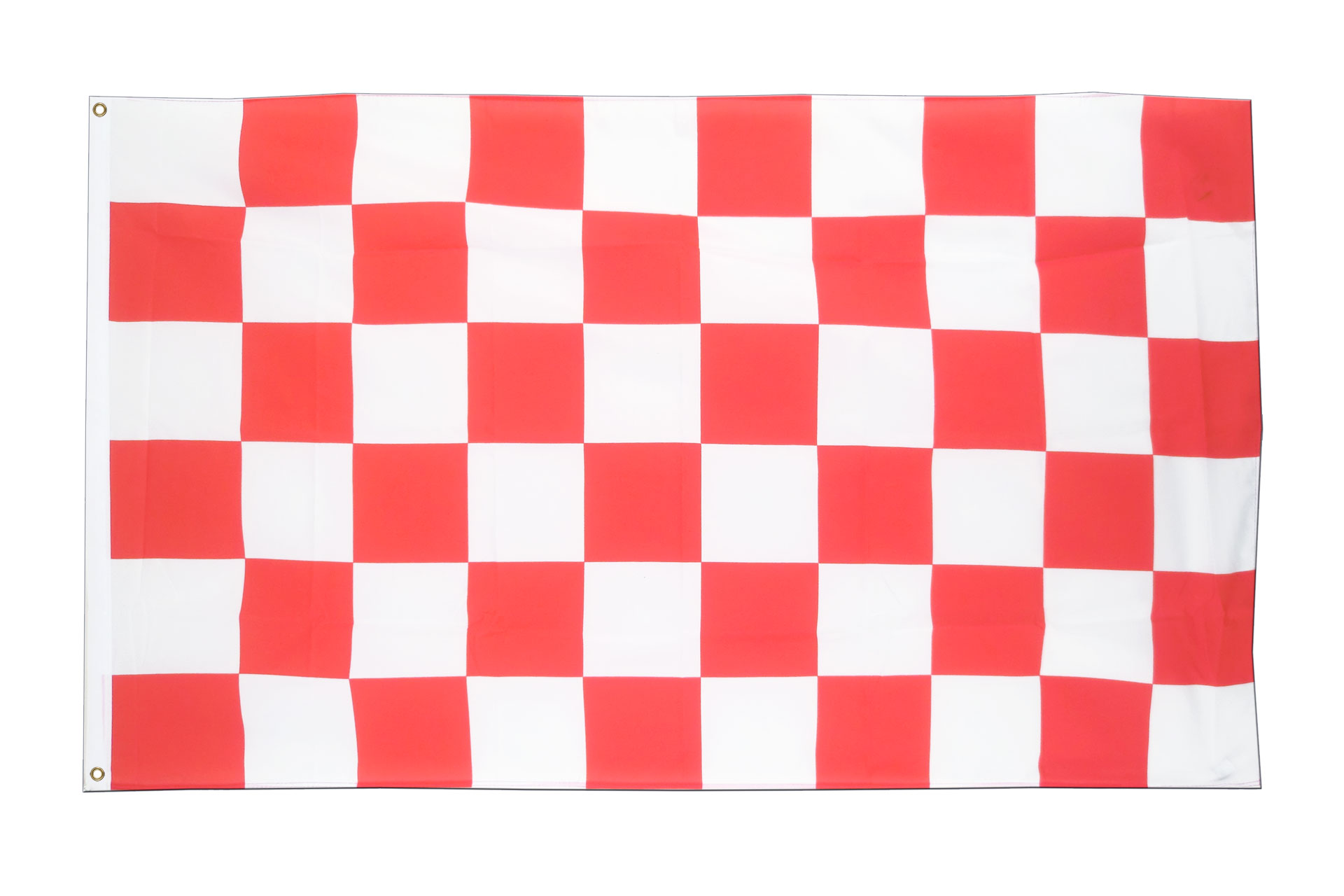 Grand drapeau damier rouge blanc 150 x 250 cm monsieur drapeaux - Carrelage damier rouge et blanc ...
