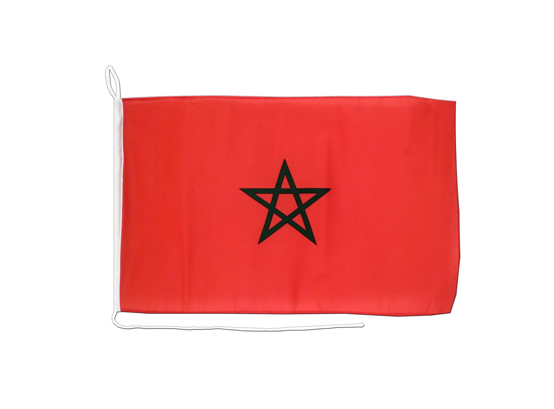 Drapeau de bateau maroc 30 x 40 cm monsieur des drapeaux - Drapeau du maroc a imprimer ...