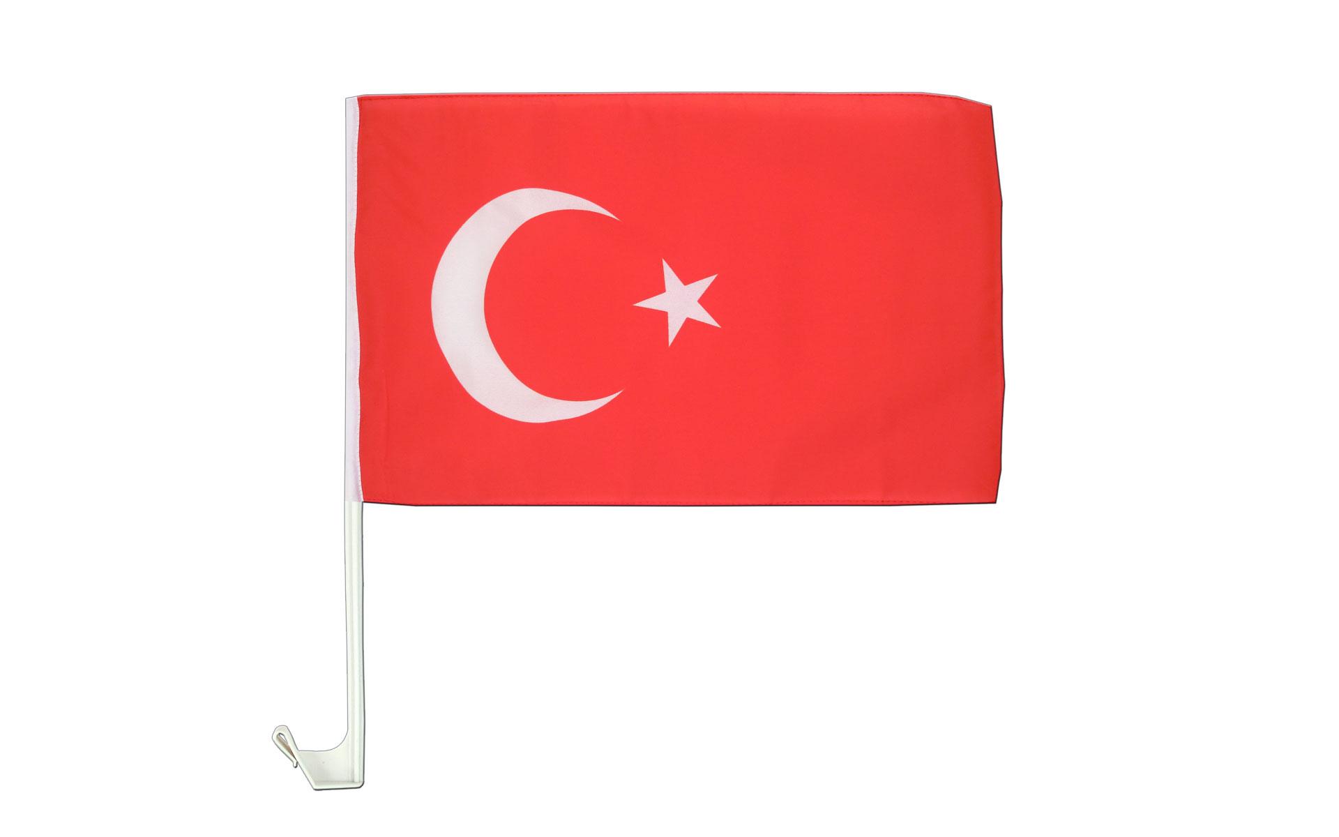 30 x 40 cm Drapeau de voiture Turquie