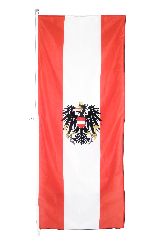 hochformat sterreich adler flagge sterreichische flagge 80 x 200 cm. Black Bedroom Furniture Sets. Home Design Ideas