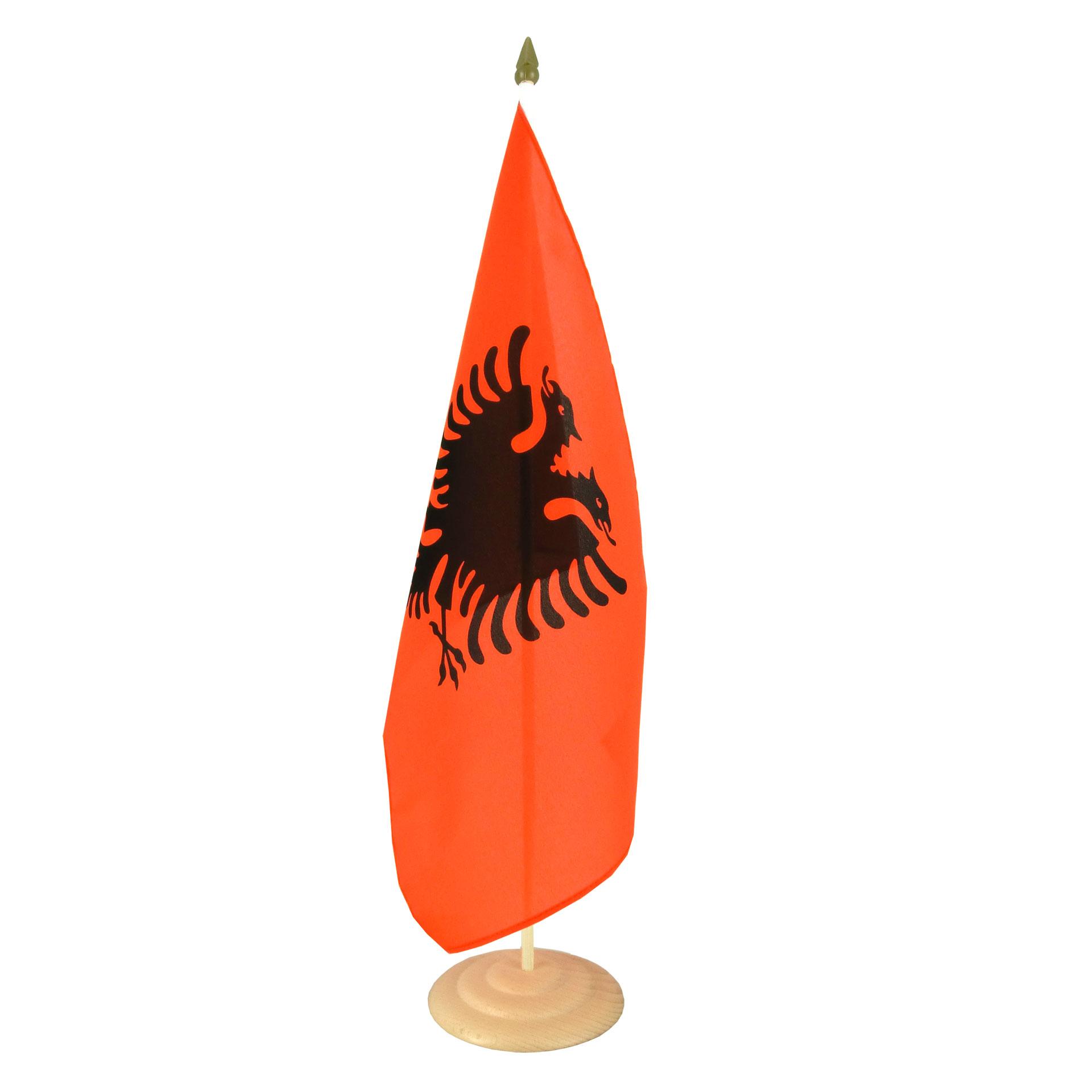 Grand Drapeau De Table Albanie 30 X 45 Cm M Drapeaux