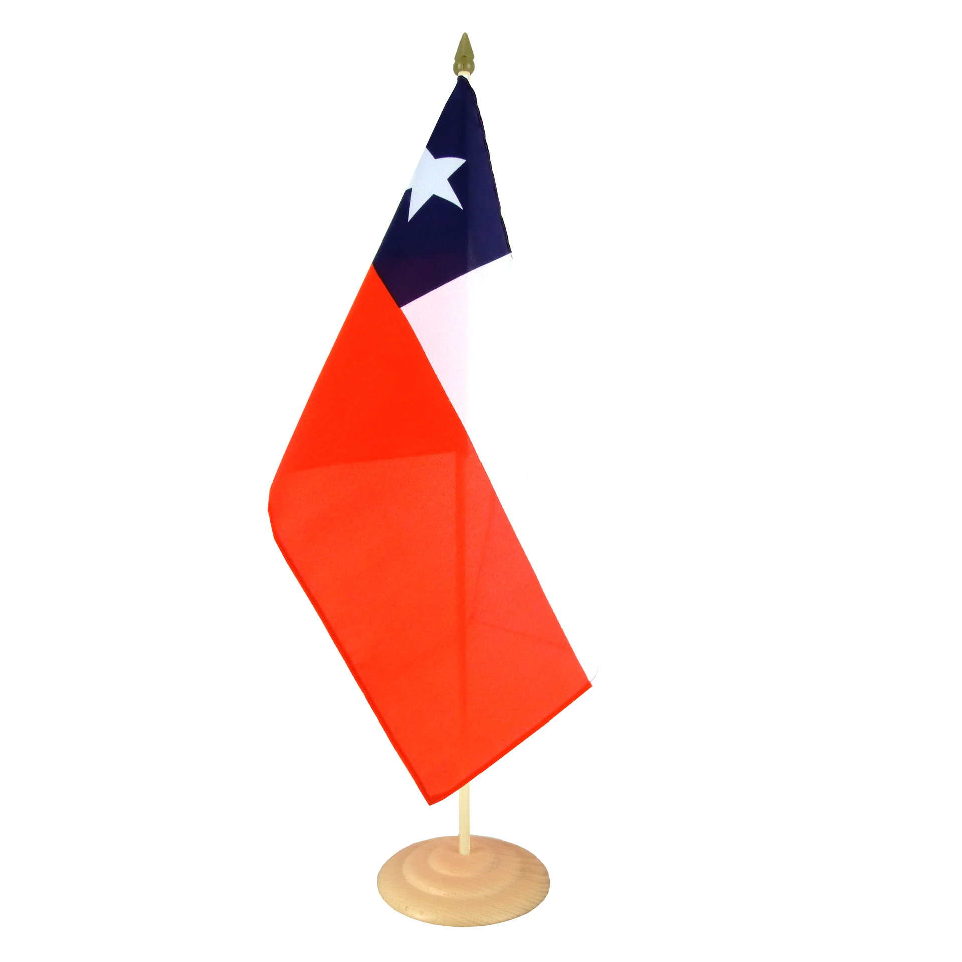 large table flag chile 12x18 wooden royal flags
