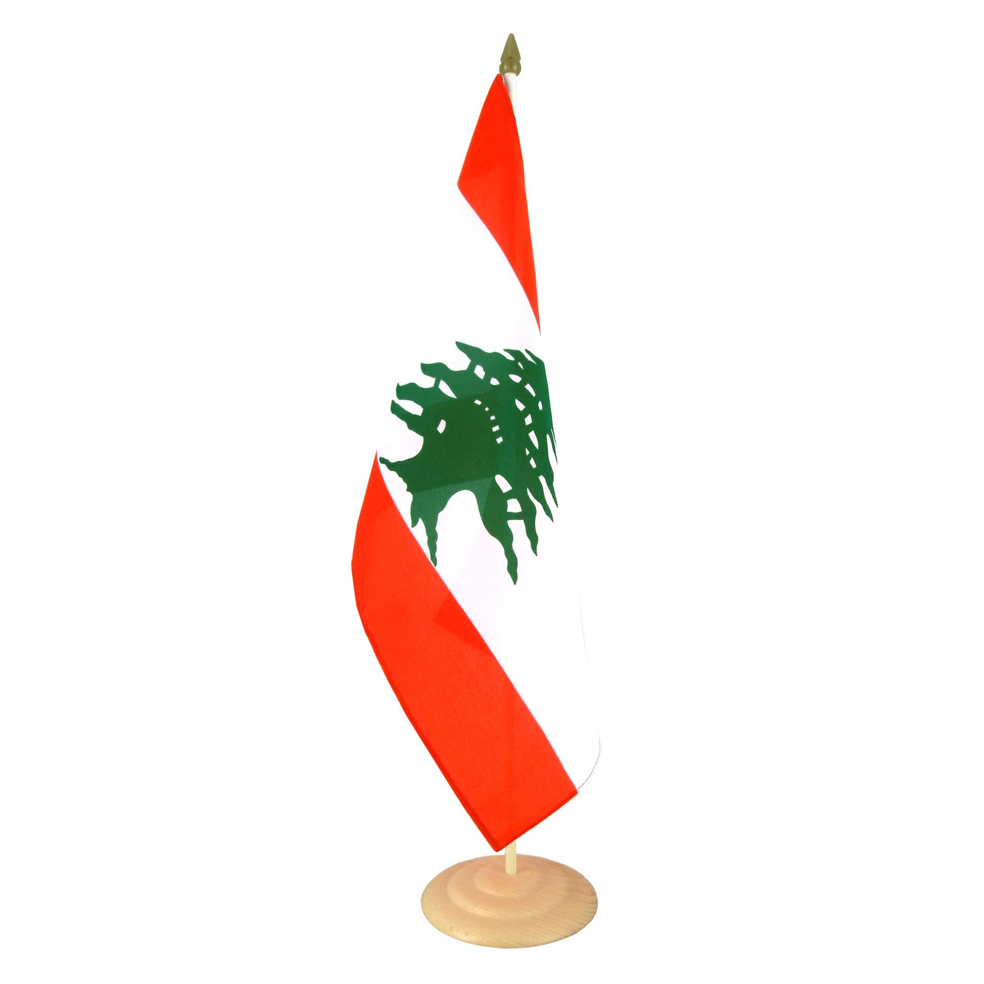 grand drapeau de table liban 30 x 45 cm m drapeaux