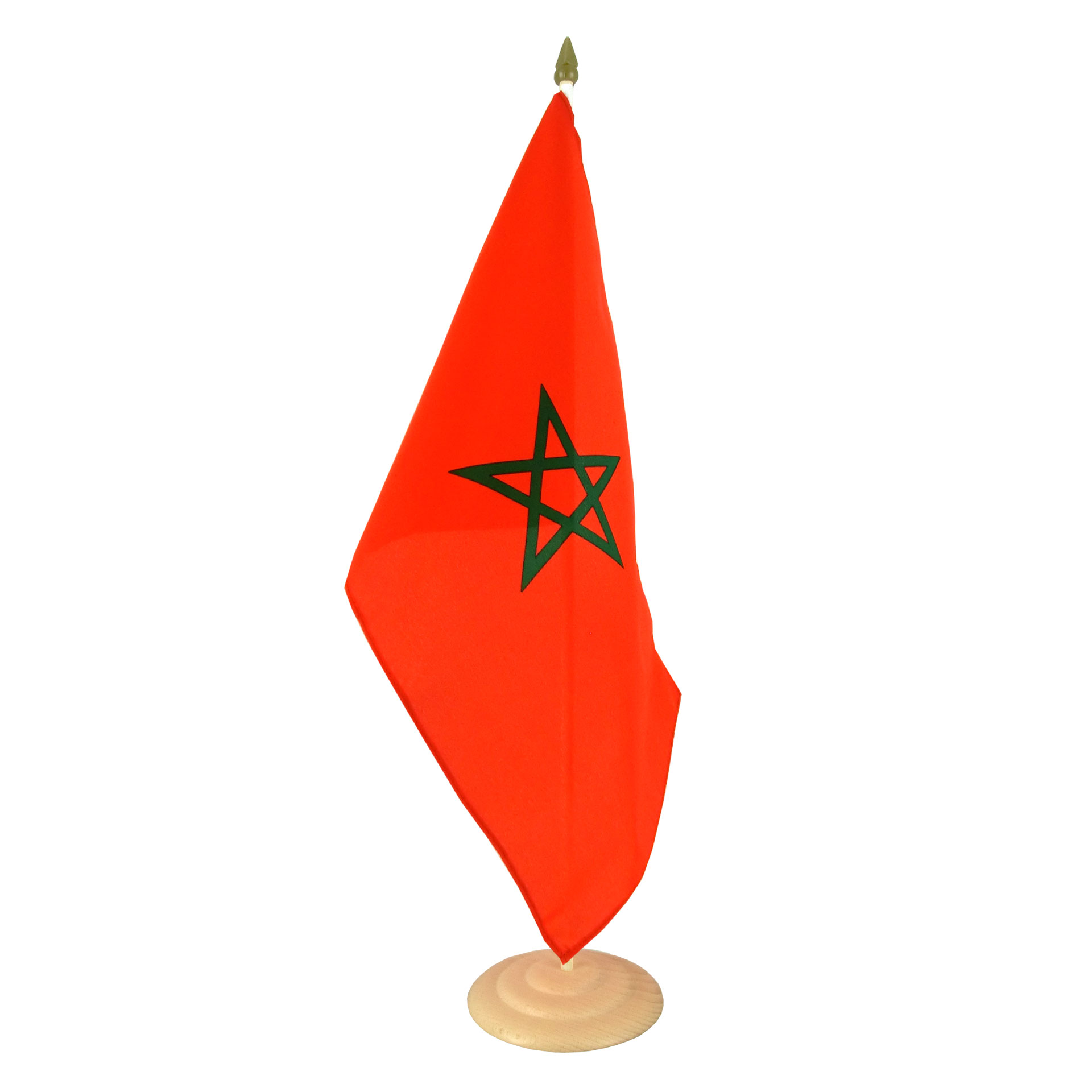 Grand drapeau de table maroc 30 x 45 cm m drapeaux - Drapeau du maroc a imprimer ...