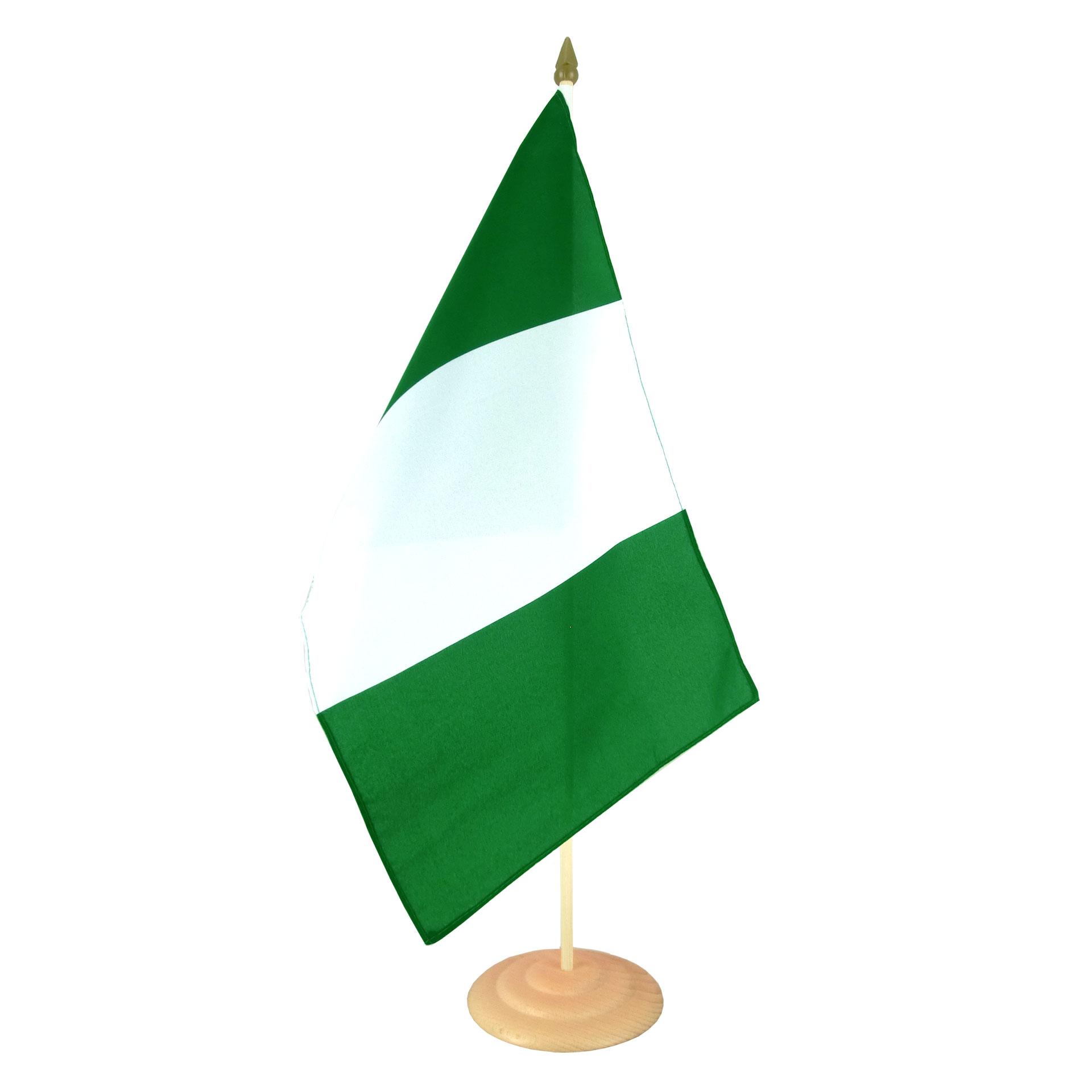 Grand Drapeau De Table Nigeria 30 X 45 Cm M Drapeaux