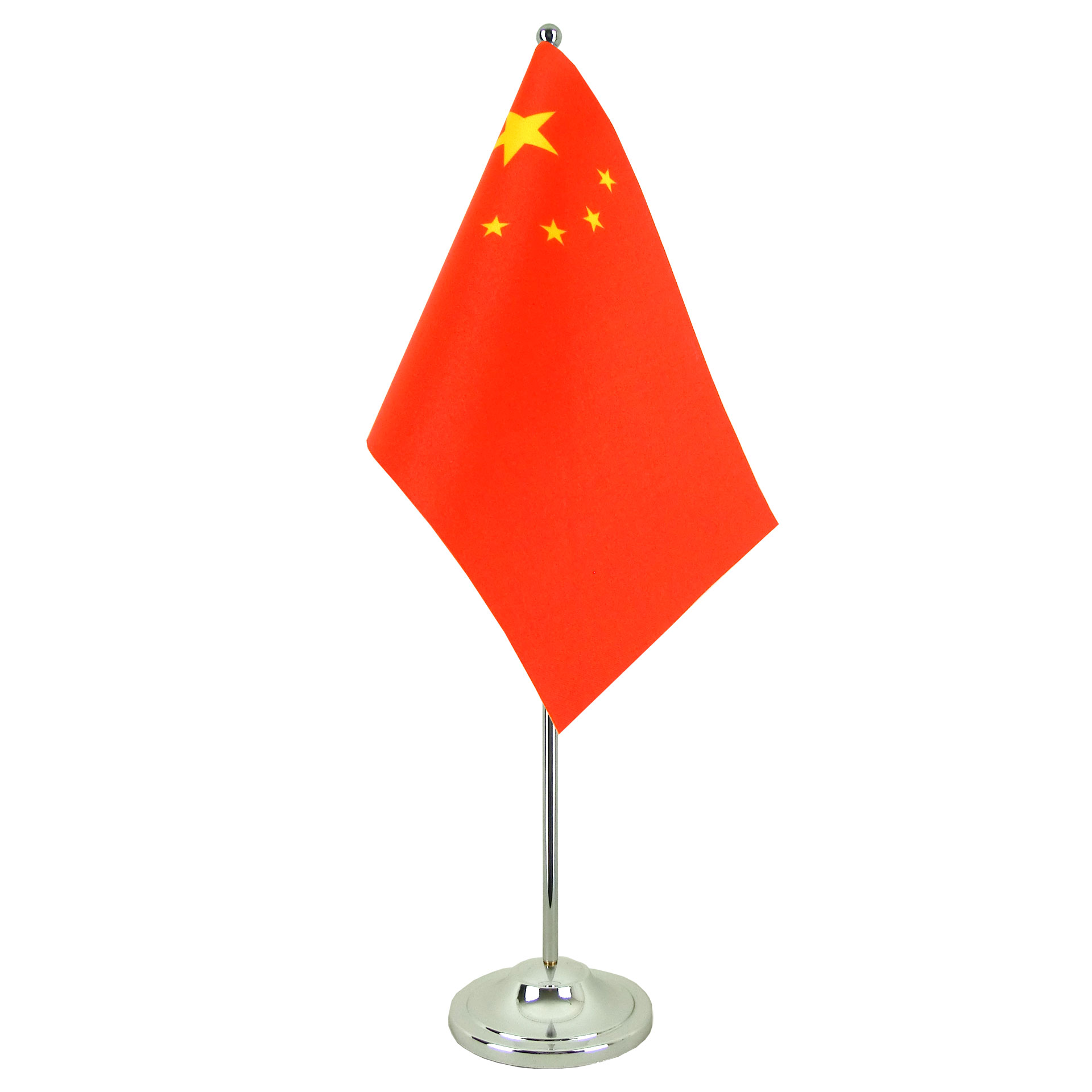 Drapeau De Chine drapeau de table prestige chine chromé - monsieur-drapeaux