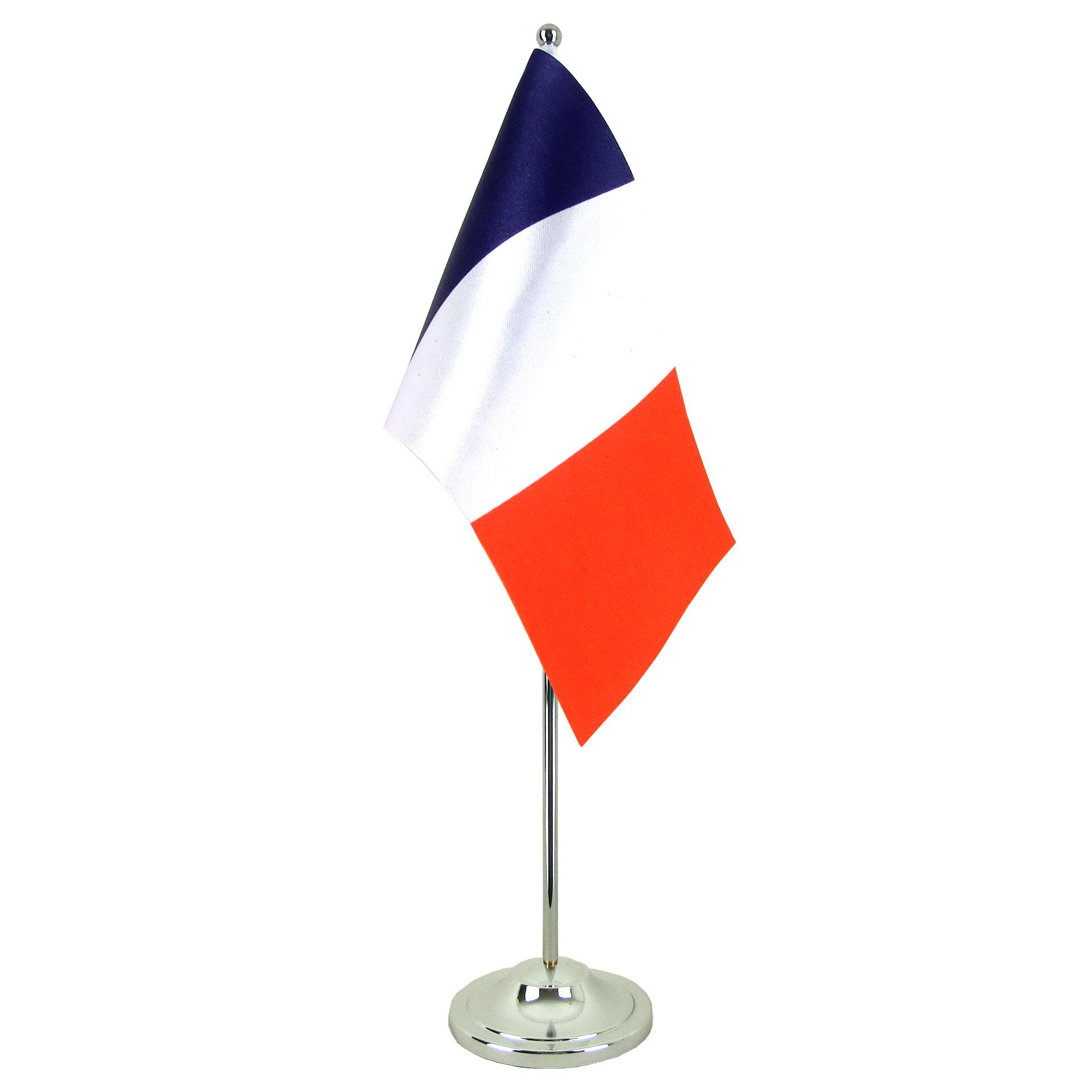 Drapeau De Table Prestige France Chrom Monsieur Drapeaux