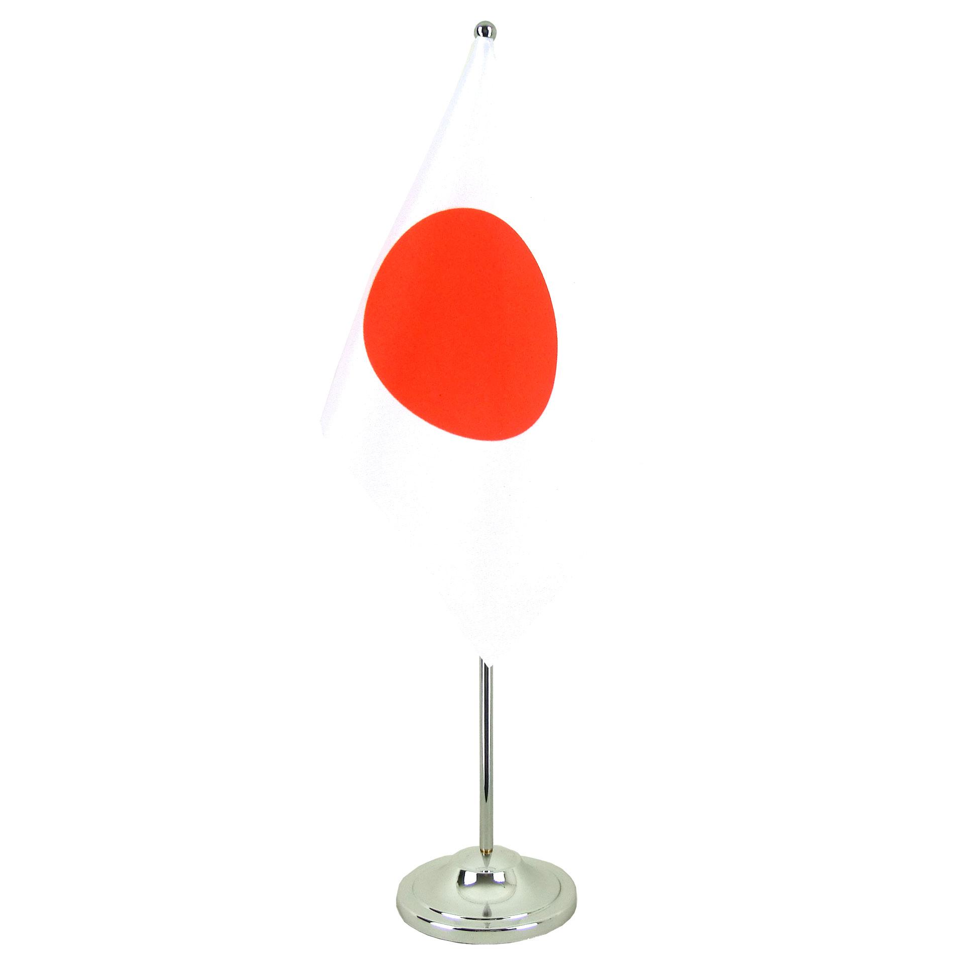 Drapeau de table prestige japon chrom monsieur drapeaux - Drapeau du japon a colorier ...
