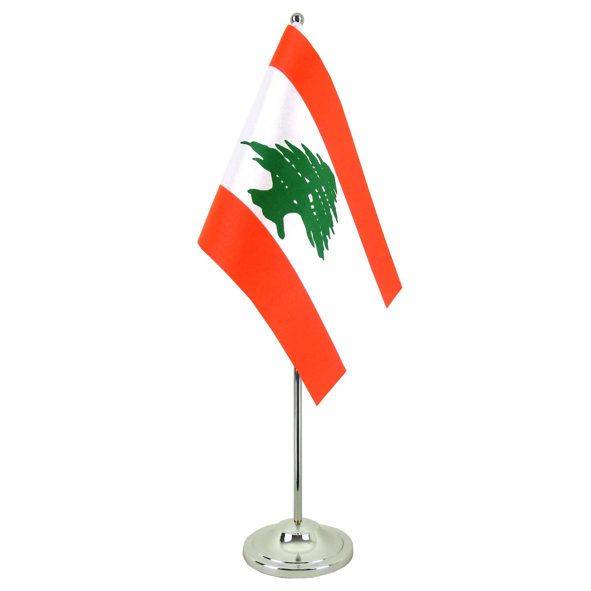 satin lebanon table flag 6x9quot royalflags