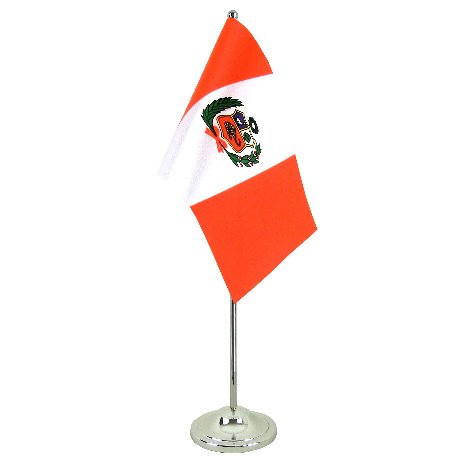 satin table flag peru 6x9 royal flags