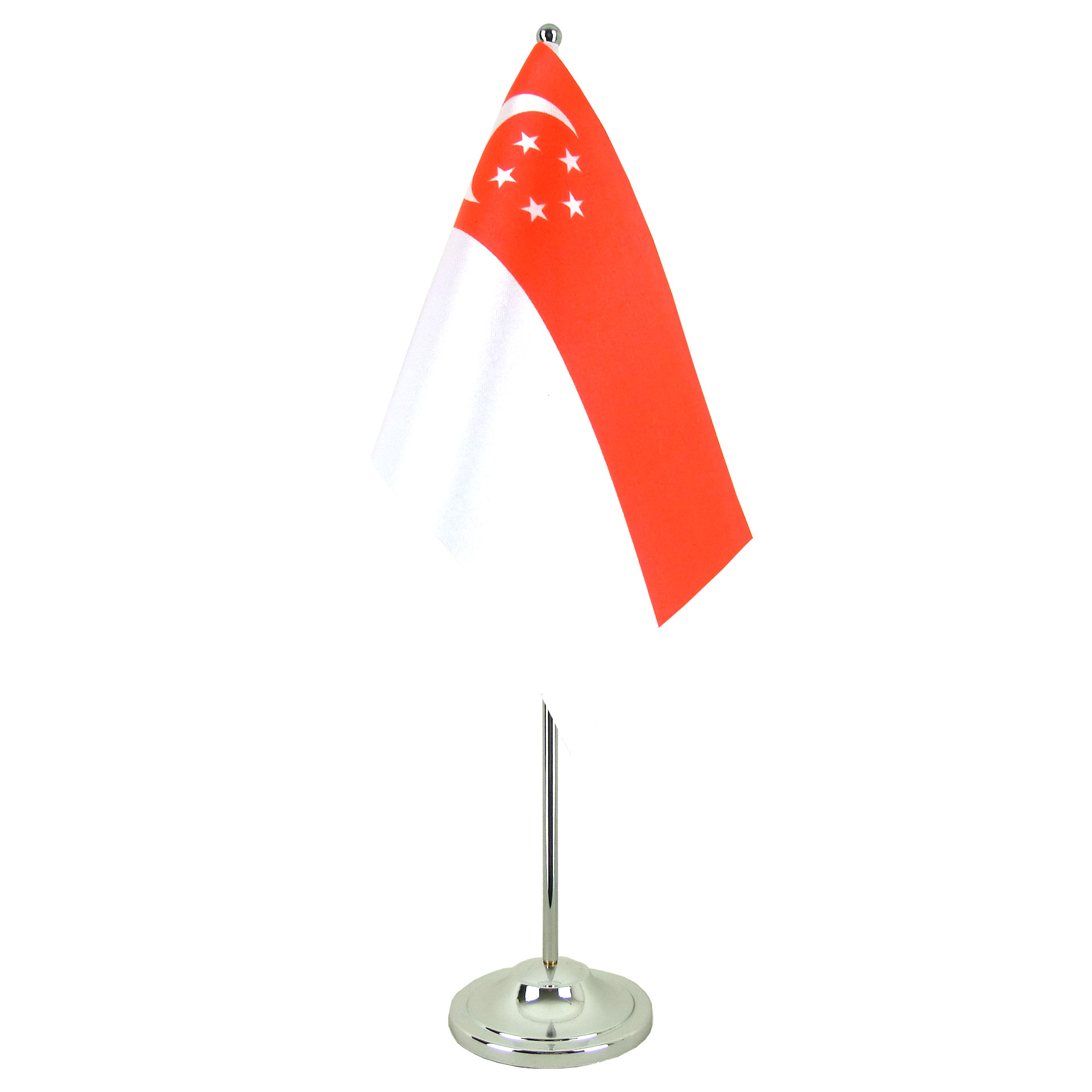 satin table flag singapore - 6x9 u0026quot
