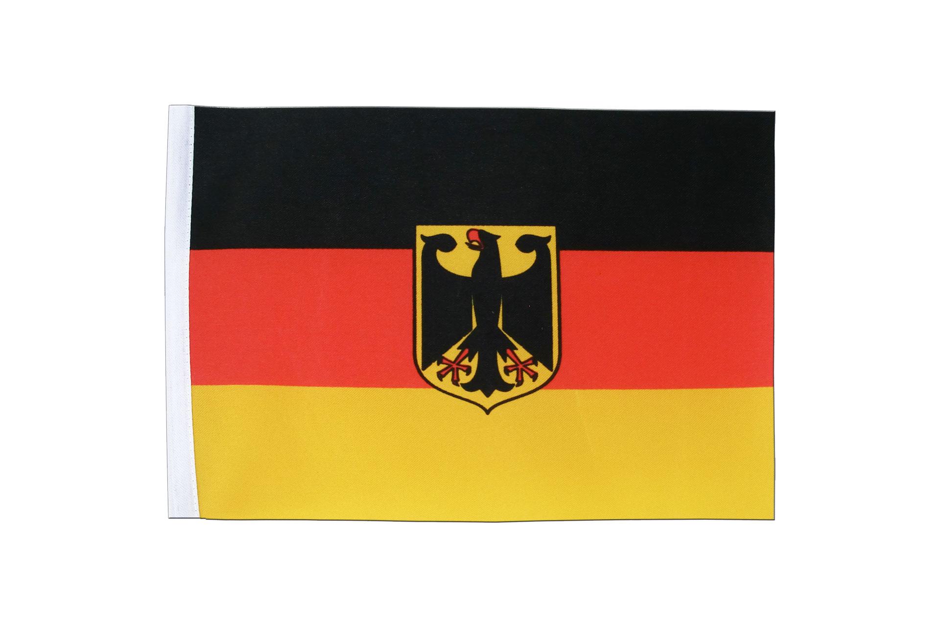 deutschland dienstflagge satin flagge 15 x 22 cm flaggenplatz. Black Bedroom Furniture Sets. Home Design Ideas