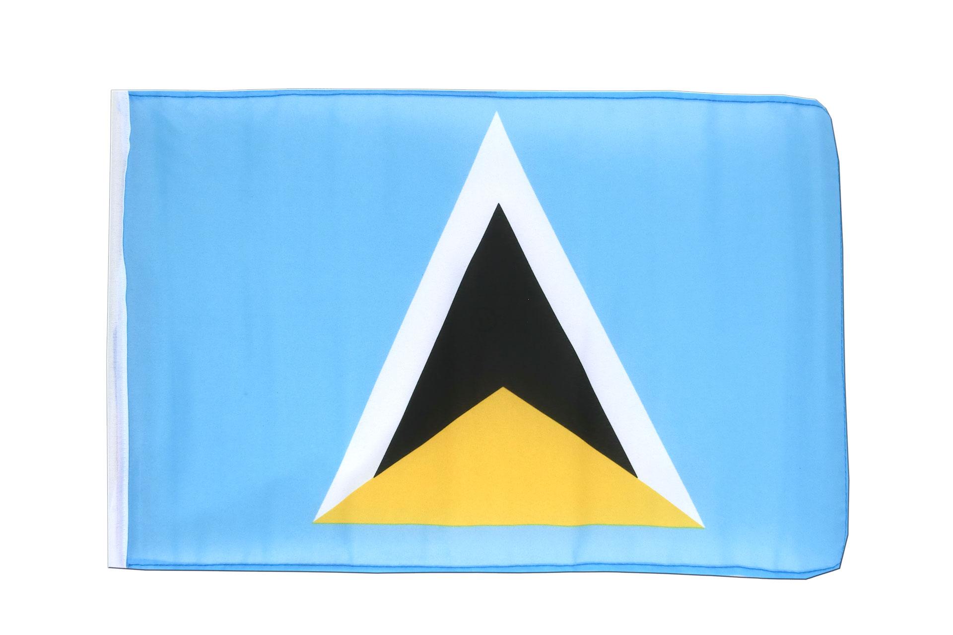 kleine st lucia fahne lucianische flagge 30 x 45 cm. Black Bedroom Furniture Sets. Home Design Ideas