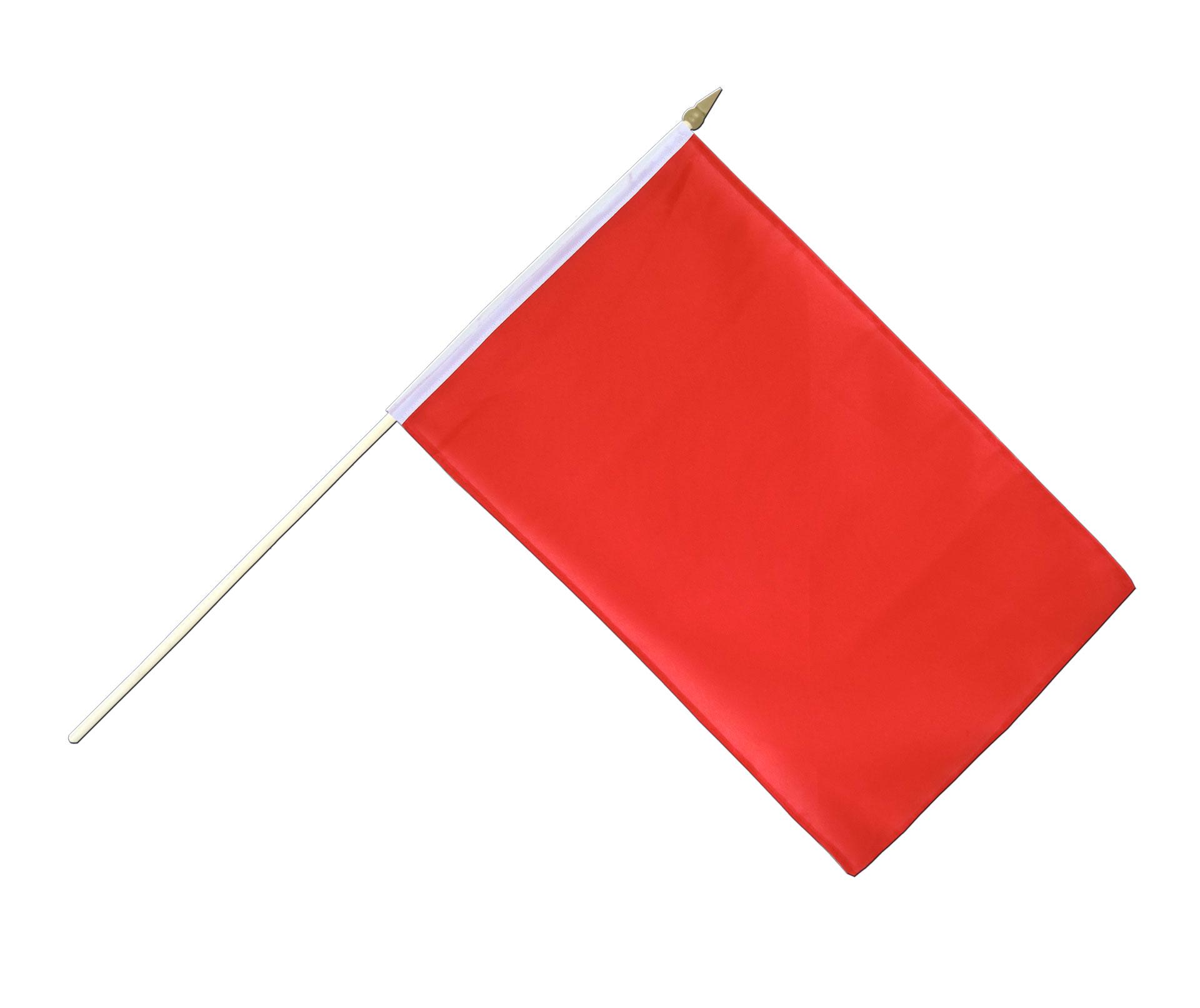 Drapeau sur hampe rouge 30 x 45 cm agiter - Drapeau rouge avec drapeau anglais ...