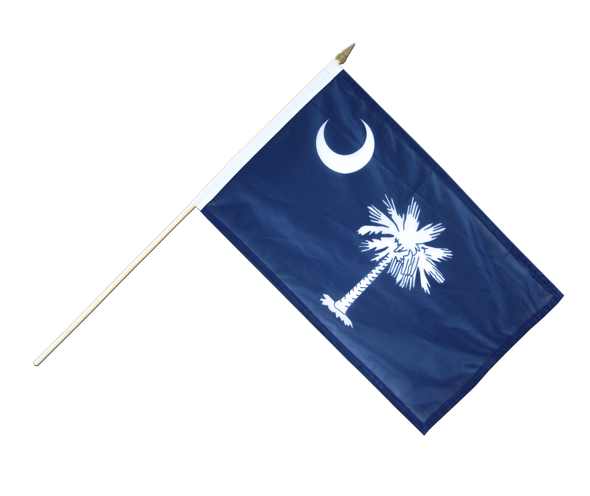 Hand Waving Flag South Carolina 12x18 Royal Flags