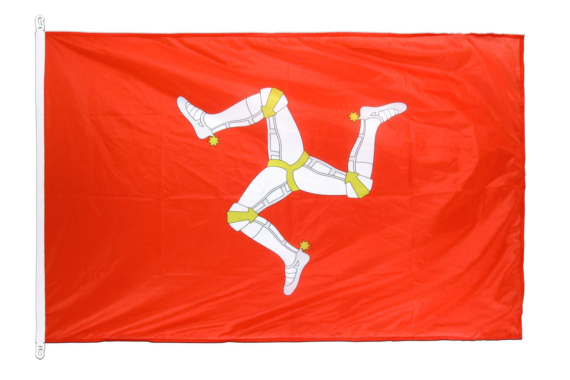 pavillon drapeau le de man 100x150 monsieur des drapeaux. Black Bedroom Furniture Sets. Home Design Ideas
