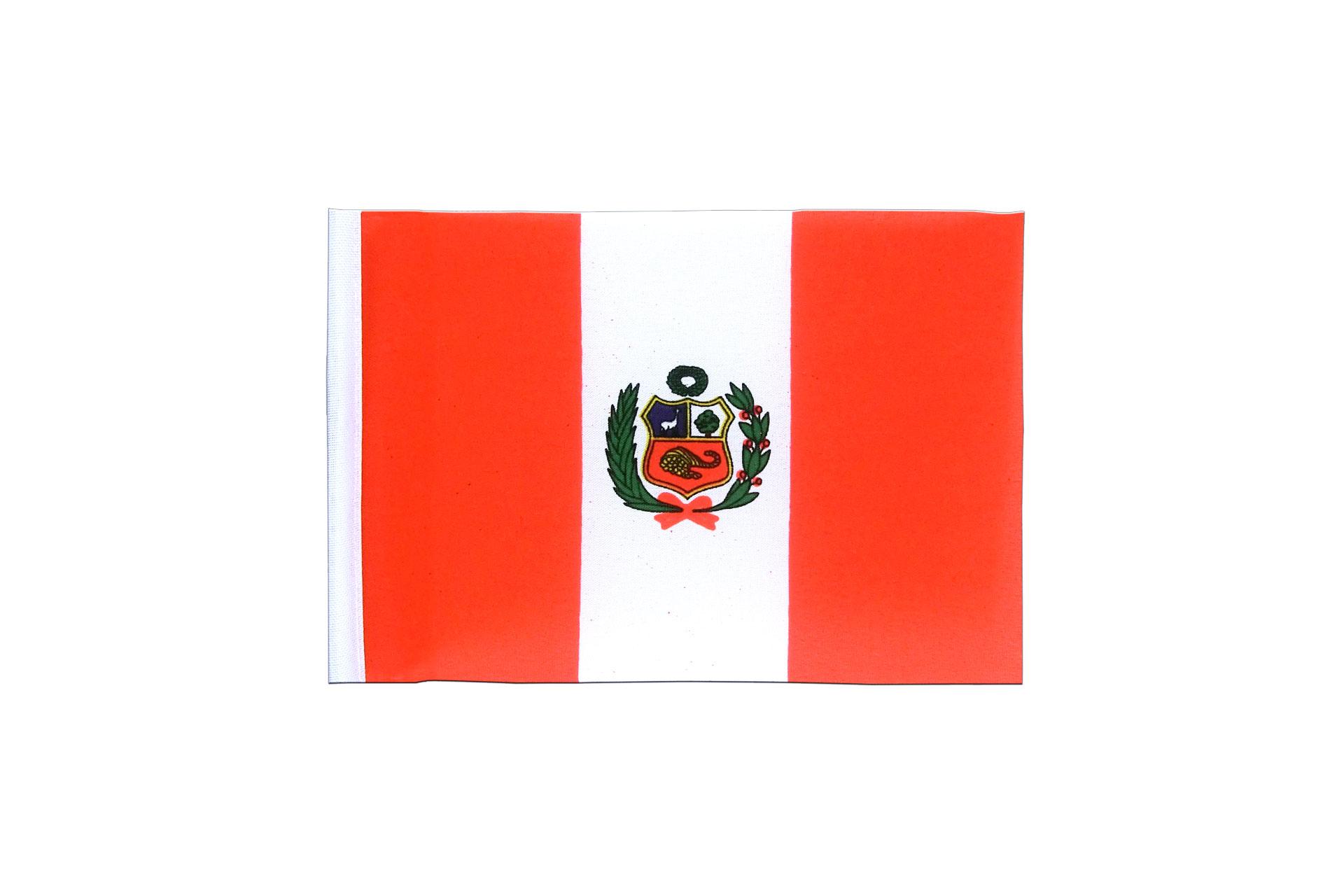 mini flag peru 4x6 royal flags