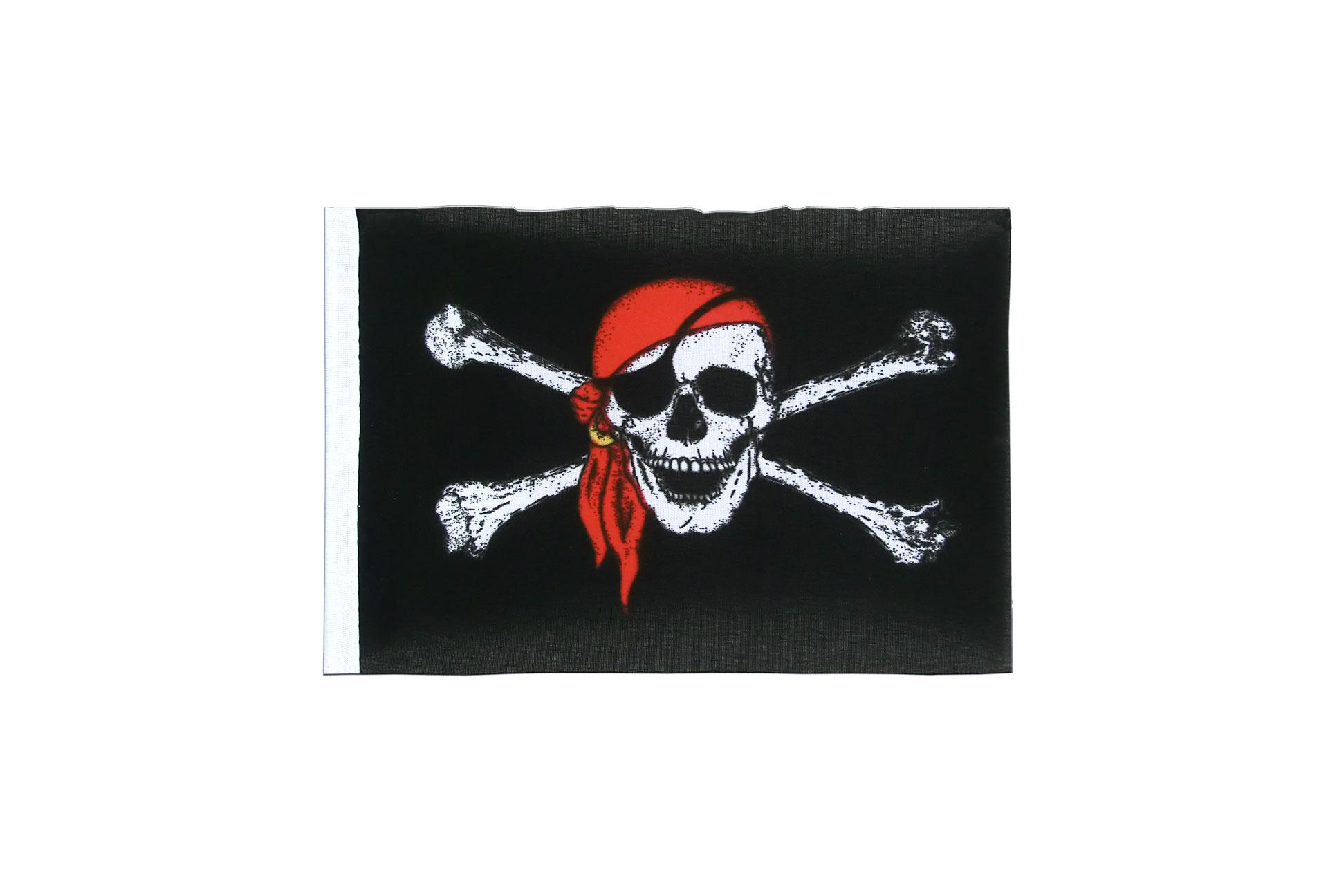 Fanion pirate avec foulard 10 x 15 cm monsieur des - Monsieur pirate ...