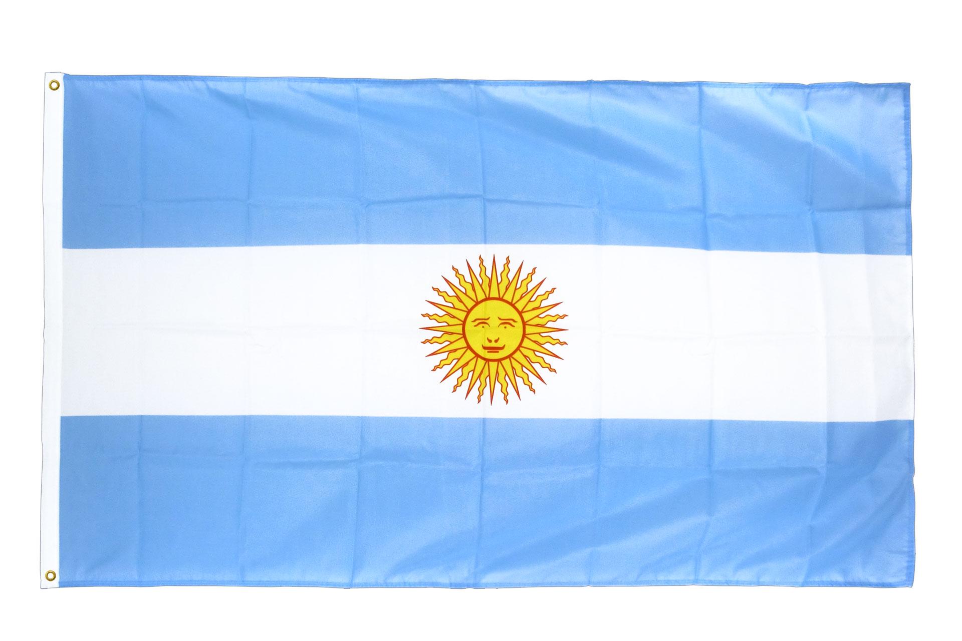 drapeau de qualit u00e9   argentine - 90 x 150 cm cv