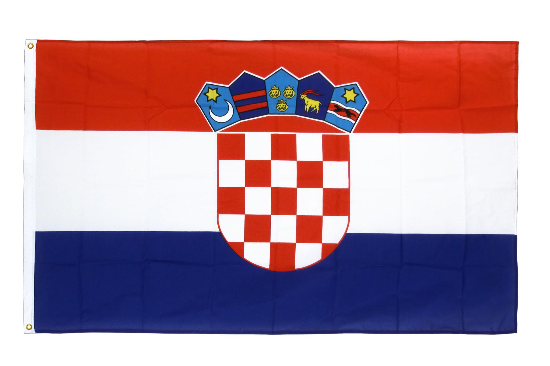kroatien flagge kroatische fahne 90x150 cm im shop kaufen und bestellen. Black Bedroom Furniture Sets. Home Design Ideas