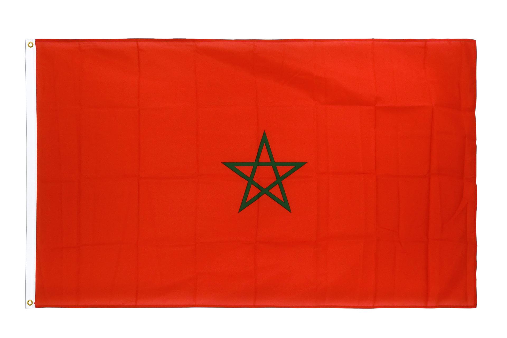 drapeau de qualit u00e9   maroc - 90 x 150 cm cv