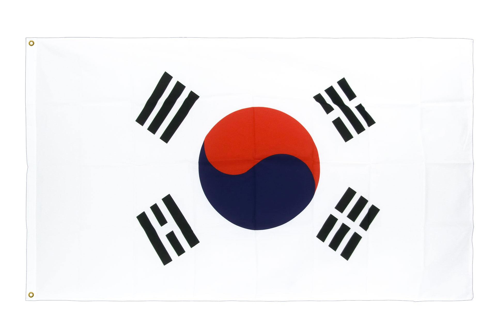 drapeau de qualit u00e9   cor u00e9e du sud - 90 x 150 cm cv