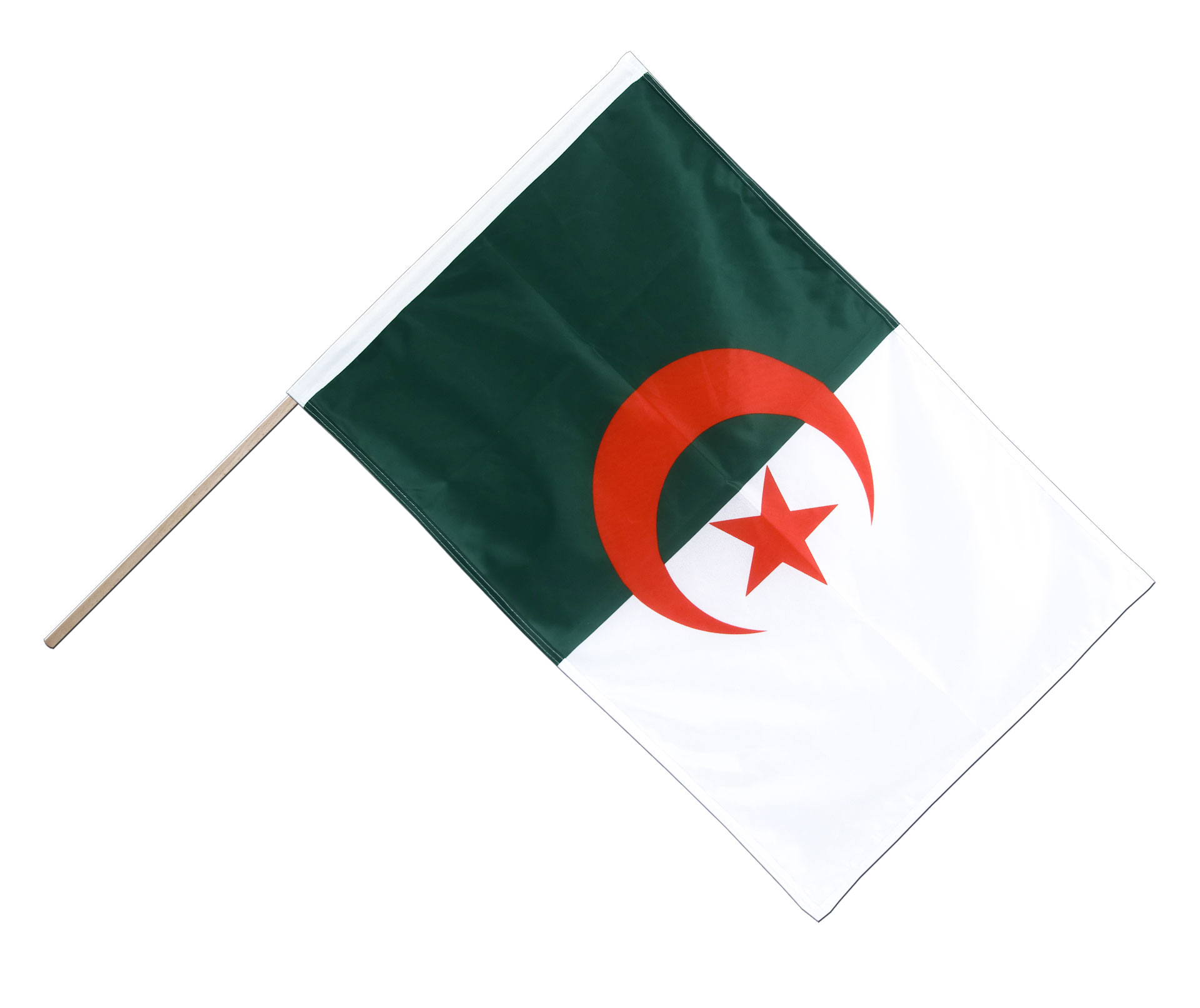 Algerie Drapeau drapeau sur hampe pro algerie - 60 x 90 cm - m. drapeaux