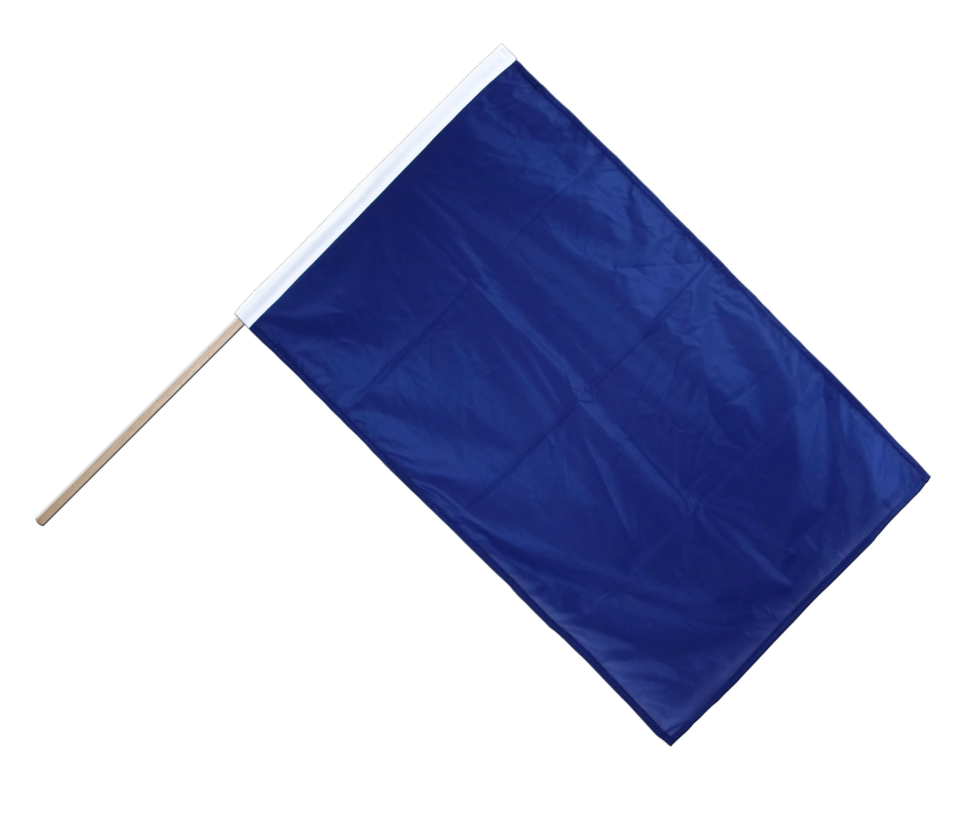 Stockflagge PRO Einfarbig Blaue Fahne, Blaue