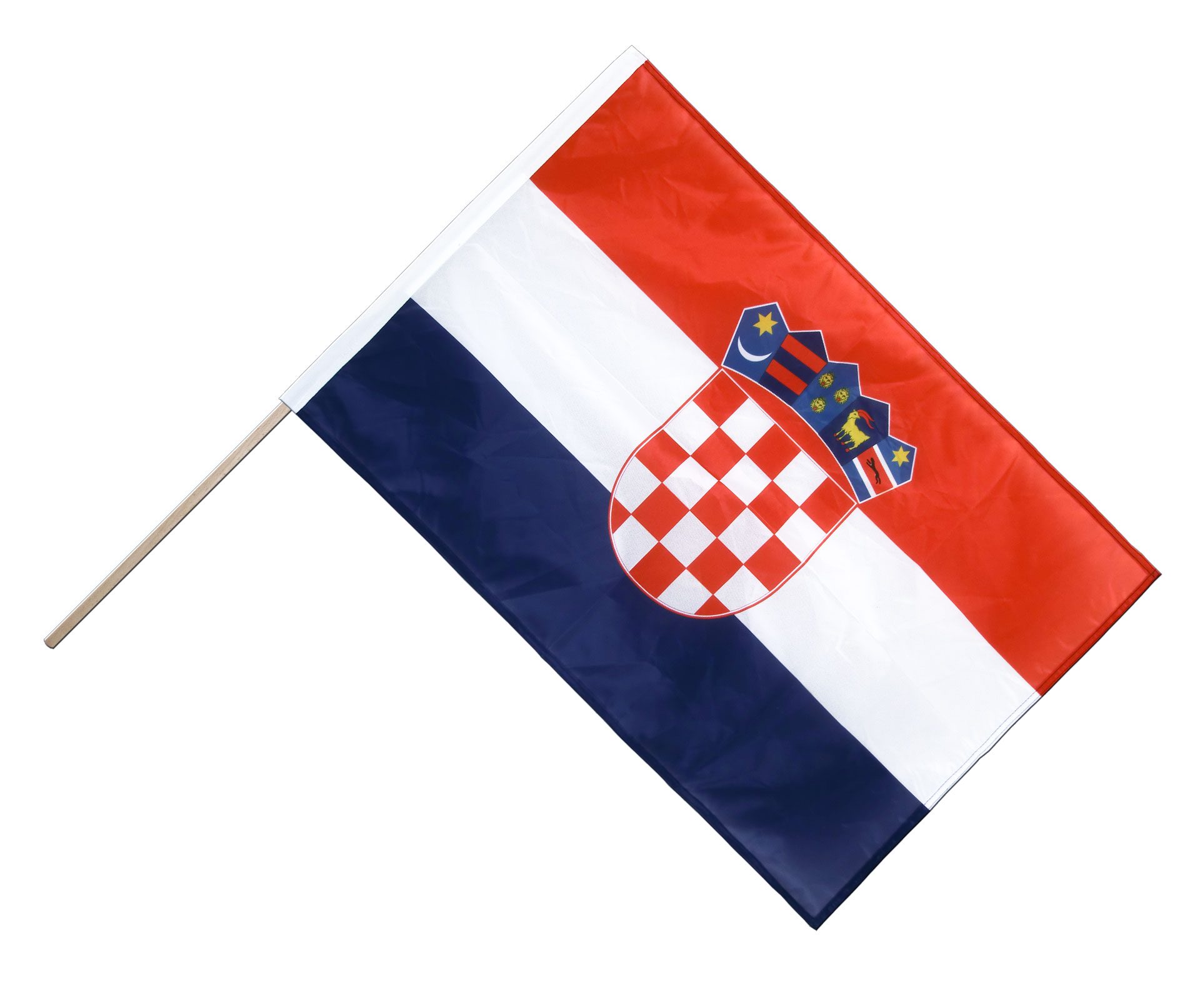 stockflagge pro kroatien flagge kroatische 60 x 90 cm. Black Bedroom Furniture Sets. Home Design Ideas