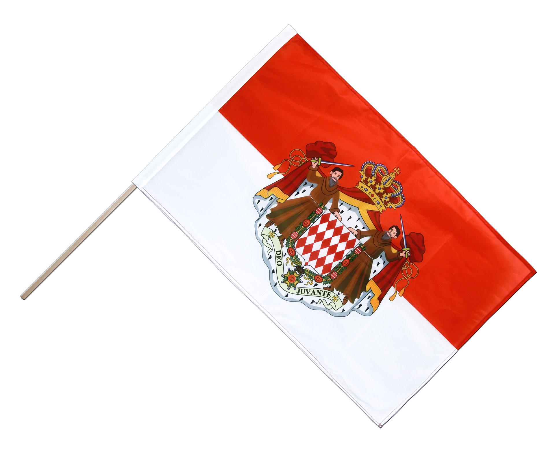 Drapeau sur hampe pro monaco 60 x 90 cm m drapeaux - Ecusson monaco ...