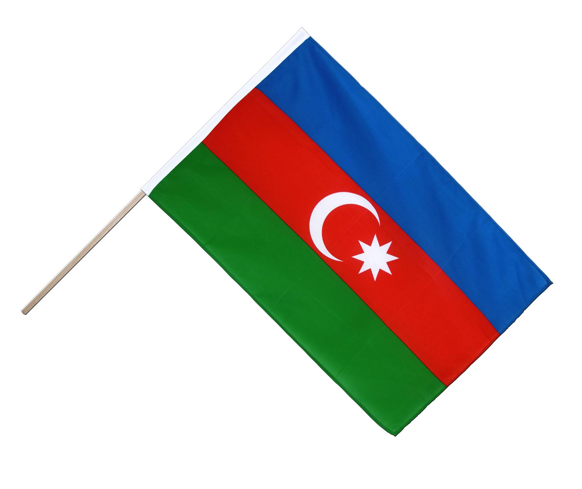 Azerbaijan Flag Waving