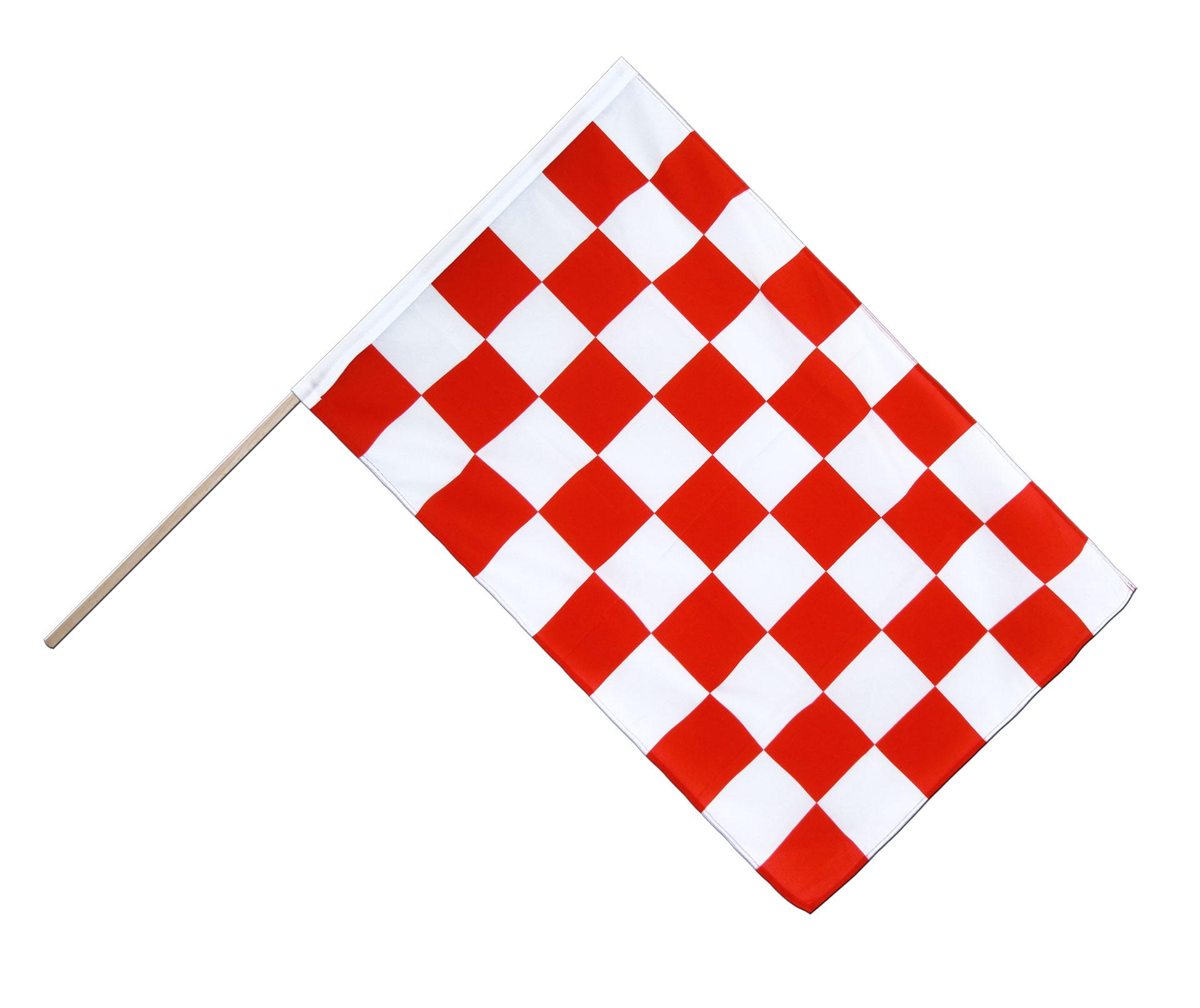 drapeau sur hampe eco damier rouge blanc 60 x 90 cm. Black Bedroom Furniture Sets. Home Design Ideas