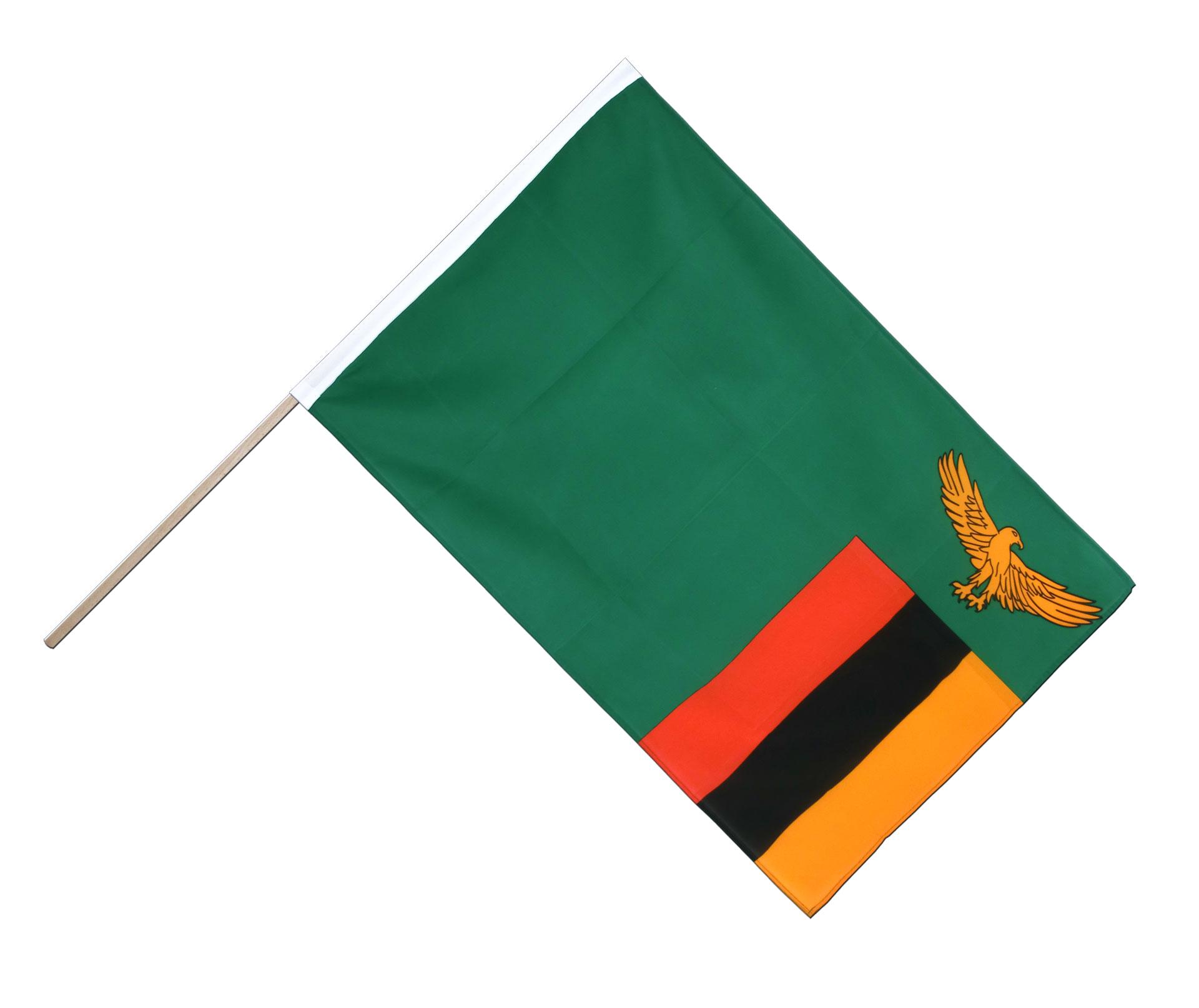 Sambia Stockflagge Eco 60 X 90 Cm Flaggenplatz