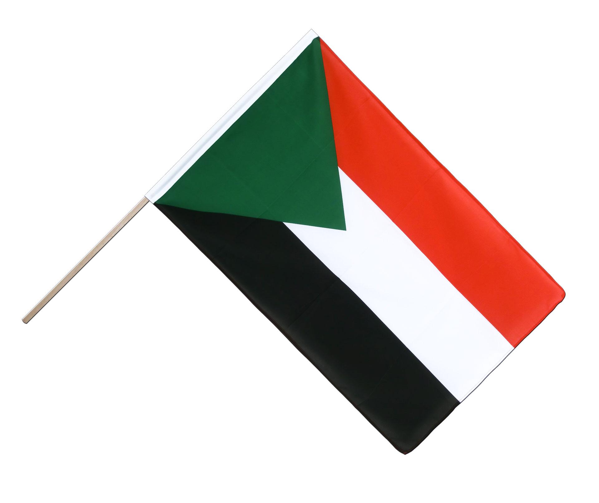 sudan stockflagge eco 60 x 90 cm flaggenplatz. Black Bedroom Furniture Sets. Home Design Ideas