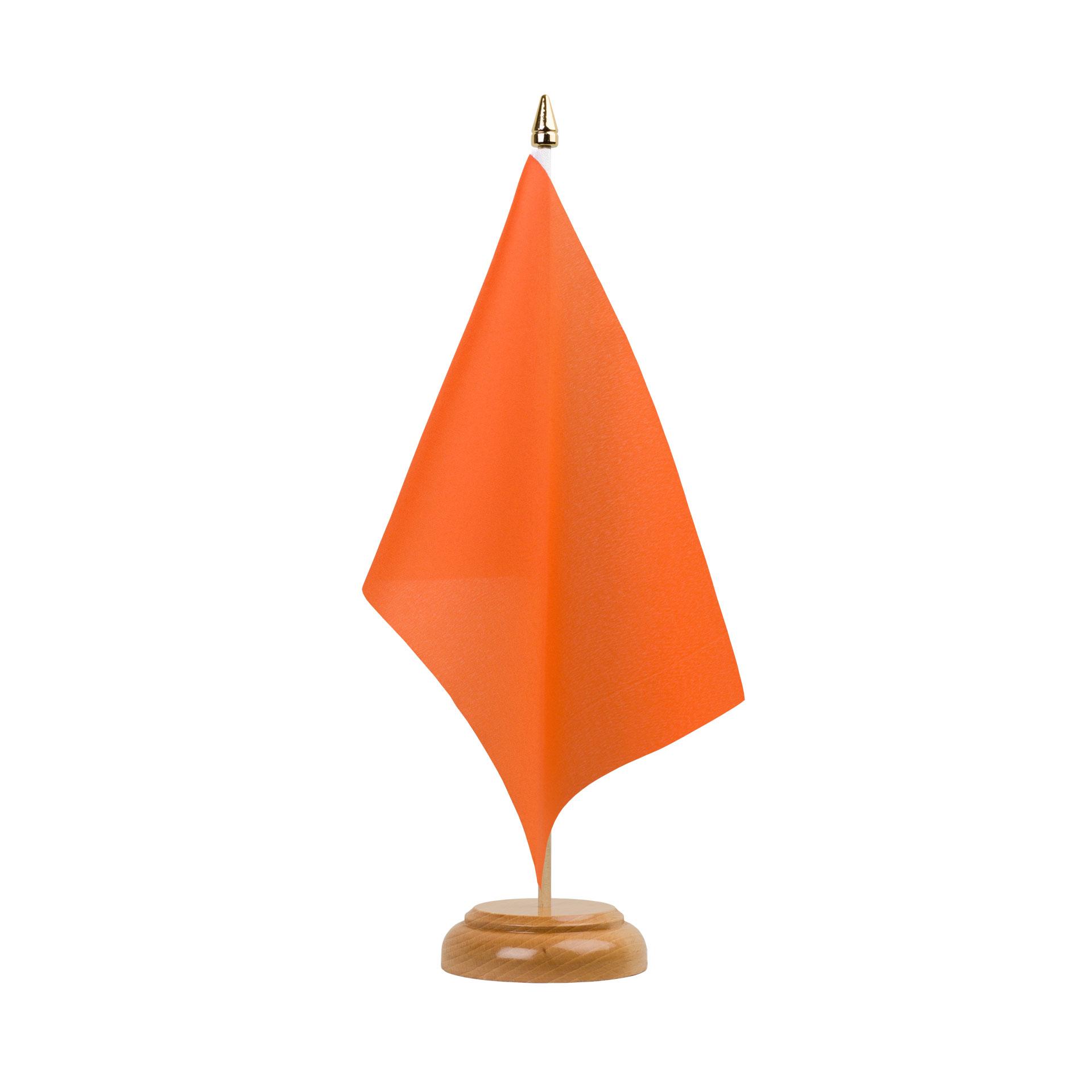 Drapeau De Table Orange 15 X 22 Cm Bois Monsieur Des Drapeaux