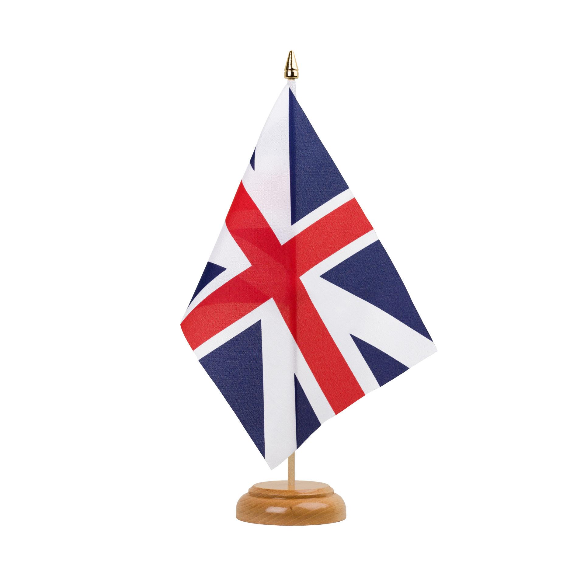 Drapeau De Table Royaume Uni Kings Colors 1606 15 X 22 Cm Bois