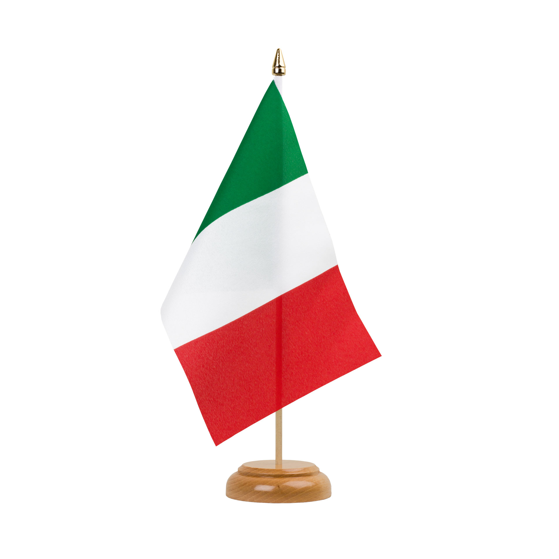 """Italian Flag: Italy Table Flag 6x9"""", Wooden"""