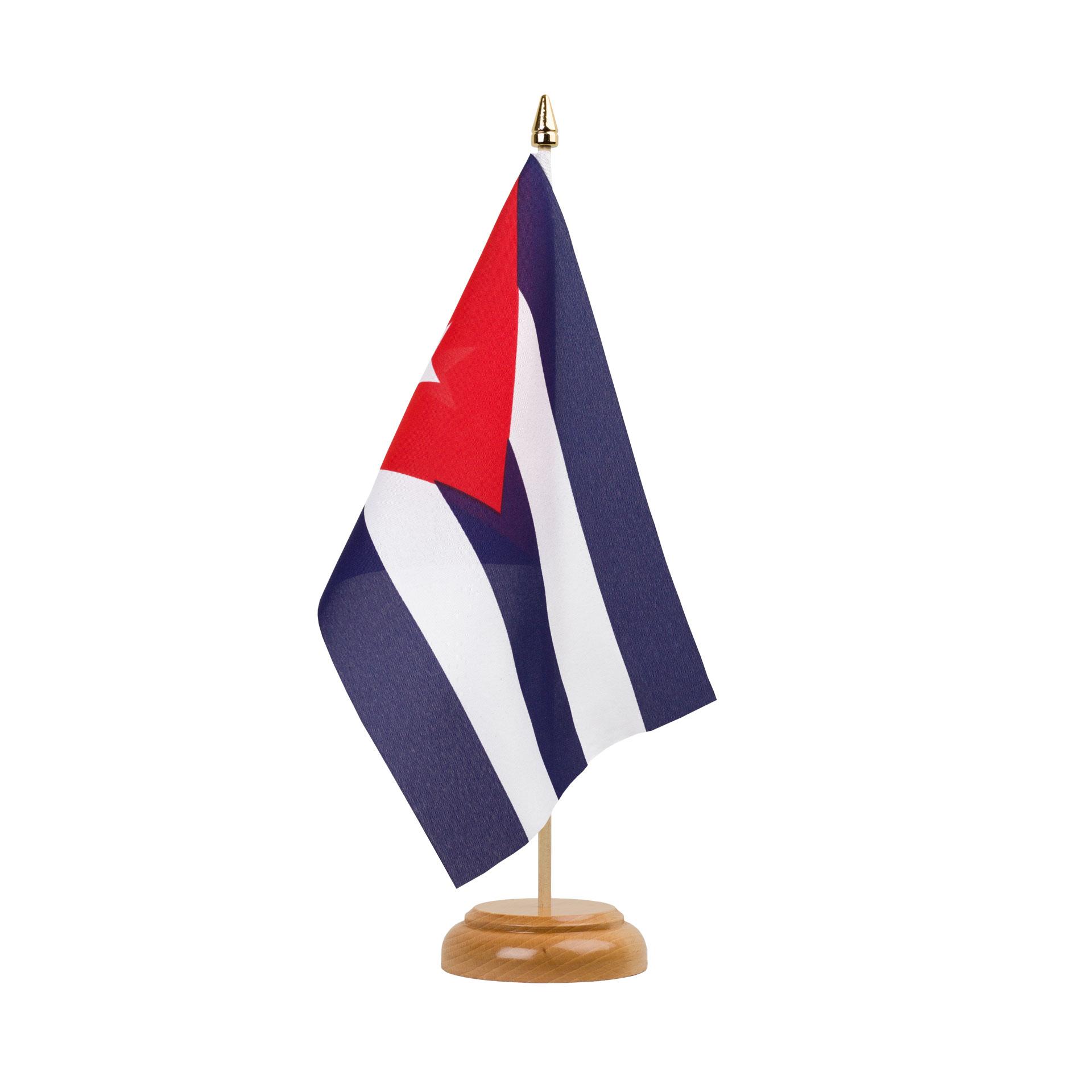 Kuba holz tischflagge 15 x 22 cm shop Kuba dekoration